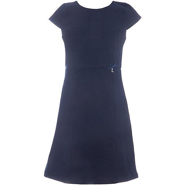 Платье для девочки LuminosoПлатья и сарафаны<br>Характеристики товара:<br><br>• цвет: синий;<br>• состав: 65% хлопок 30% полиэстер 5% эластан;<br>• сезон: демисезон;<br>• особенности: школьное, приталенное;<br>• застежка: молния;<br>• с коротким рукавом:<br>• декорировано бантиком;<br>• страна бренда: Россия;<br>• страна производства: Китай.<br><br>Темно-синее классическое трикотажное платье с коротким рукавом для девочки приталенного кроя с округлым вырезом и коротким рукавом. Школьное платье застегивается на молнию на спине.<br><br>Платье для девочки Luminoso (Люминосо) можно купить в нашем интернет-магазине.<br><br>Ширина мм: 236<br>Глубина мм: 16<br>Высота мм: 184<br>Вес г: 177<br>Цвет: синий<br>Возраст от месяцев: 72<br>Возраст до месяцев: 84<br>Пол: Женский<br>Возраст: Детский<br>Размер: 122,164,158,152,146,140,134,128<br>SKU: 6672806