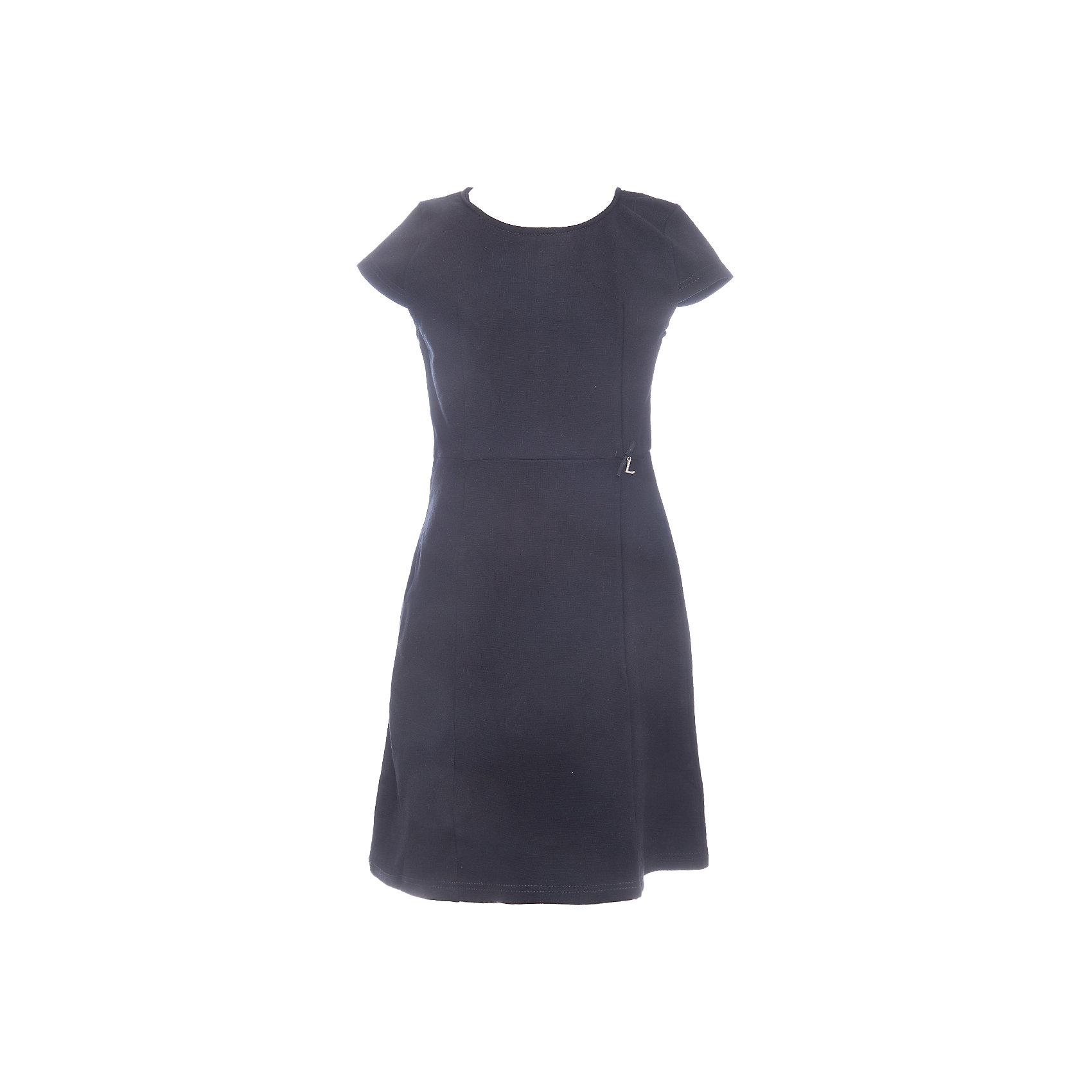 Платье для девочки LuminosoПлатья и сарафаны<br>Характеристики товара:<br><br>• цвет: черный;<br>• состав: 65% хлопок 30% полиэстер 5% эластан;<br>• сезон: демисезон;<br>• особенности: школьное, приталенное;<br>• застежка: молния;<br>• с коротким рукавом:<br>• декорировано бантиком;<br>• страна бренда: Россия;<br>• страна производства: Китай.<br><br>Черное классическое трикотажное платье с коротким рукавом для девочки приталенного кроя с округлым вырезом и коротким рукавом. Школьное платье застегивается на молнию на спине.<br><br>Платье для девочки Luminoso (Люминосо) можно купить в нашем интернет-магазине.<br><br>Ширина мм: 236<br>Глубина мм: 16<br>Высота мм: 184<br>Вес г: 177<br>Цвет: черный<br>Возраст от месяцев: 156<br>Возраст до месяцев: 168<br>Пол: Женский<br>Возраст: Детский<br>Размер: 164,122,128,134,140,146,152,158<br>SKU: 6672815