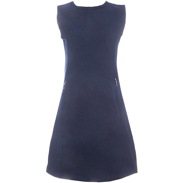 Платье для девочки LuminosoПлатья и сарафаны<br>Характеристики товара:<br><br>• цвет: синий;<br>• состав: 65% хлопок 30% полиэстер 5% эластан;<br>• сезон: демисезон;<br>• особенности: школьное, приталенное;<br>• застежка: молния;<br>• с коротким рукавом:<br>• декорировано молниями;<br>• страна бренда: Россия;<br>• страна производства: Китай.<br><br>Темно-синее трикотажное платье с коротким рукавом для девочки приталенного кроя с овальным вырезом. Школьное платье декорировано стильными молниями. Застежка-молния расположена на спинке изделия.<br><br>Платье для девочки Luminoso (Люминосо) можно купить в нашем интернет-магазине.<br>Ширина мм: 236; Глубина мм: 16; Высота мм: 184; Вес г: 177; Цвет: синий; Возраст от месяцев: 72; Возраст до месяцев: 84; Пол: Женский; Возраст: Детский; Размер: 122,164,158,152,146,140,134,128; SKU: 6672824;