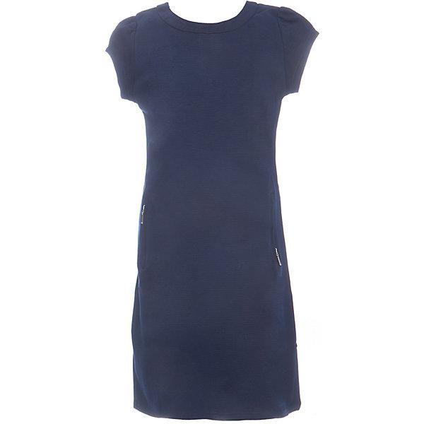 Платье для девочки LuminosoПлатья и сарафаны<br>Характеристики товара:<br><br>• цвет: синий;<br>• состав: 65% хлопок 30% полиэстер 5% эластан;<br>• сезон: демисезон;<br>• особенности: школьное;<br>• застежка: молния;<br>• с коротким рукавом:<br>• декорировано молниями;<br>• страна бренда: Россия;<br>• страна производства: Китай.<br><br>Синее трикотажное платье для девочки с округлым вырезом и коротким рукавом А-силуэта. Школьное платье декорировано стильными молниями. Застежка-молния расположена на спинке изделия.<br><br>Платье для девочки Luminoso (Люминосо) можно купить в нашем интернет-магазине.<br><br>Ширина мм: 236<br>Глубина мм: 16<br>Высота мм: 184<br>Вес г: 177<br>Цвет: синий<br>Возраст от месяцев: 108<br>Возраст до месяцев: 120<br>Пол: Женский<br>Возраст: Детский<br>Размер: 140,134,128,122,164,158,152,146<br>SKU: 6672833