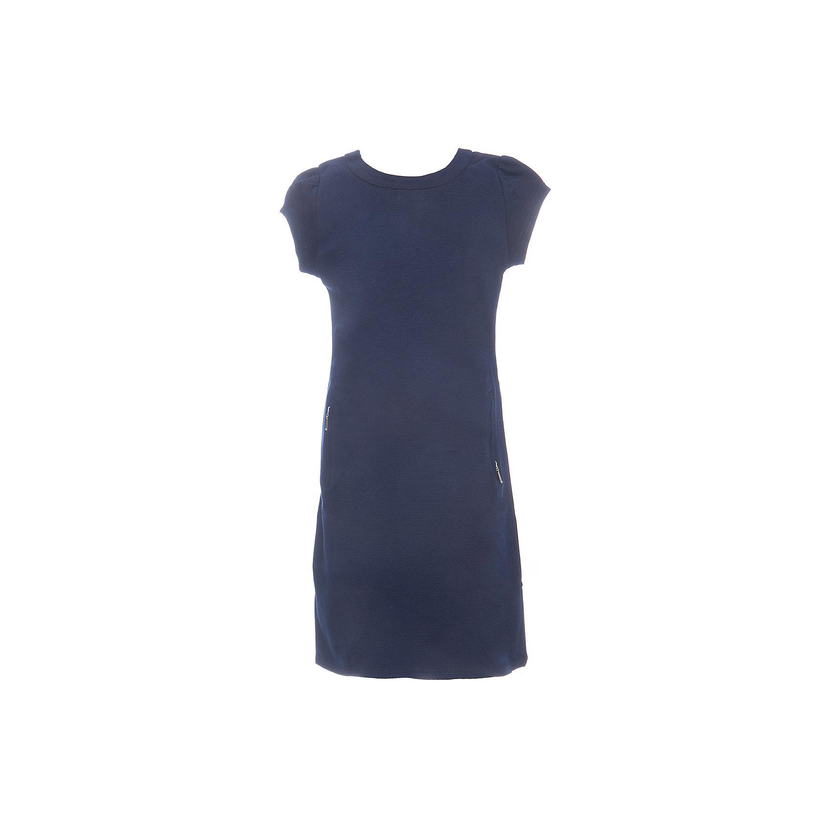 Платье для девочки LuminosoПлатья и сарафаны<br>Характеристики товара:<br><br>• цвет: синий;<br>• состав: 65% хлопок 30% полиэстер 5% эластан;<br>• сезон: демисезон;<br>• особенности: школьное;<br>• застежка: молния;<br>• с коротким рукавом:<br>• декорировано молниями;<br>• страна бренда: Россия;<br>• страна производства: Китай.<br><br>Синее трикотажное платье для девочки с округлым вырезом и коротким рукавом А-силуэта. Школьное платье декорировано стильными молниями. Застежка-молния расположена на спинке изделия.<br><br>Платье для девочки Luminoso (Люминосо) можно купить в нашем интернет-магазине.<br><br>Ширина мм: 236<br>Глубина мм: 16<br>Высота мм: 184<br>Вес г: 177<br>Цвет: синий<br>Возраст от месяцев: 144<br>Возраст до месяцев: 156<br>Пол: Женский<br>Возраст: Детский<br>Размер: 158,164,122,128,134,140,146,152<br>SKU: 6672833