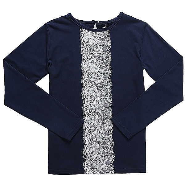 Блузка для девочки LuminosoБлузки и рубашки<br>Характеристики товара:<br><br>• цвет: синий;<br>• состав: 95% хлопок, 5% эластан;<br>• сезон: демисезон;<br>• особенности: школьная, с кружевом;<br>• с длинным рукавом;<br>• застежка: пуговица сзади на горловине;<br>• декорирована кружевной вставкой; <br>• страна бренда: Россия;<br>• страна производства: Китай.<br><br>Школьная блузка с длинным рукавом для девочки. Синяя блузка с округлым вырезом и длинным рукавом. Декорированная контрастной кружевной вставкой. Застегивается на пуговку на спинке.<br><br>Блузка для девочки Luminoso (Люминосо) можно купить в нашем интернет-магазине.<br>Ширина мм: 186; Глубина мм: 87; Высота мм: 198; Вес г: 197; Цвет: синий; Возраст от месяцев: 132; Возраст до месяцев: 144; Пол: Женский; Возраст: Детский; Размер: 134,140,146,158,152,164,122,128; SKU: 6672914;