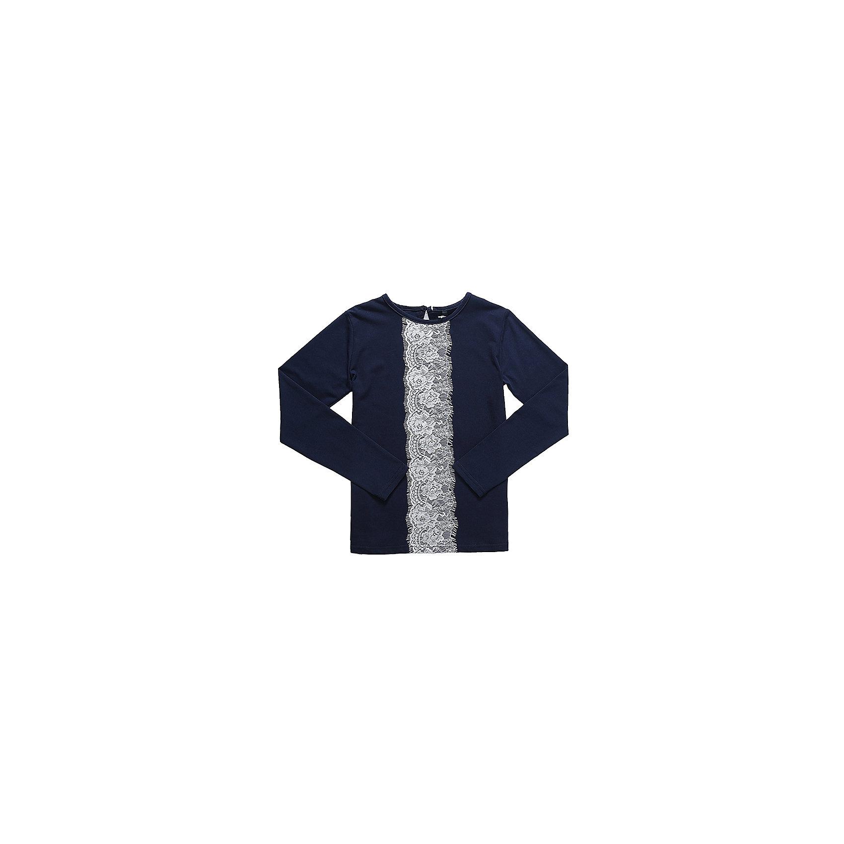 Блузка для девочки LuminosoБлузки и рубашки<br>Характеристики товара:<br><br>• цвет: синий;<br>• состав: 95% хлопок, 5% эластан;<br>• сезон: демисезон;<br>• особенности: школьная, с кружевом;<br>• с длинным рукавом;<br>• застежка: пуговица сзади на горловине;<br>• декорирована кружевной вставкой; <br>• страна бренда: Россия;<br>• страна производства: Китай.<br><br>Школьная блузка с длинным рукавом для девочки. Синяя блузка с округлым вырезом и длинным рукавом. Декорированная контрастной кружевной вставкой. Застегивается на пуговку на спинке.<br><br>Блузка для девочки Luminoso (Люминосо) можно купить в нашем интернет-магазине.<br><br>Ширина мм: 186<br>Глубина мм: 87<br>Высота мм: 198<br>Вес г: 197<br>Цвет: синий<br>Возраст от месяцев: 72<br>Возраст до месяцев: 84<br>Пол: Женский<br>Возраст: Детский<br>Размер: 122,164,128,134,140,146,152,158<br>SKU: 6672914