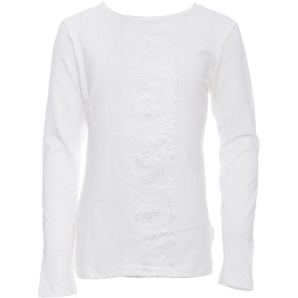 Футболка с длинным рукавом для девочки LuminosoБлузки и рубашки<br>Характеристики товара:<br><br>• цвет: белый;<br>• состав: 95% хлопок, 5% эластан;<br>• сезон: демисезон;<br>• особенности: школьная, с кружевом;<br>• с длинным рукавом;<br>• застежка: пуговица сзади на горловине;<br>• декорирована кружевной вставкой; <br>• страна бренда: Россия;<br>• страна производства: Китай.<br><br>Школьная блузка с длинным рукавом для девочки. Белая блузка с округлым вырезом и длинным рукавом. Декорированная кружевной вставкой в тон изделию. Застегивается на пуговку на спинке.<br><br>Блузка для девочки Luminoso (Люминосо) можно купить в нашем интернет-магазине.<br><br>Ширина мм: 186<br>Глубина мм: 87<br>Высота мм: 198<br>Вес г: 197<br>Цвет: белый<br>Возраст от месяцев: 132<br>Возраст до месяцев: 144<br>Пол: Женский<br>Возраст: Детский<br>Размер: 152,122,164,158,146,140,134,128<br>SKU: 6672923