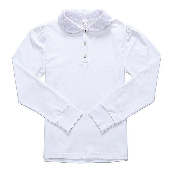 Блузка для девочки LuminosoБлузки и рубашки<br>Характеристики товара:<br><br>• цвет: белый;<br>• состав: 95% хлопок, 5% эластан;<br>• сезон: демисезон;<br>• особенности: школьная, с плиссировкой;<br>• застежка: пуговицы;<br>• с длинным рукавом;<br>• воротник с шифоновой плиссировкой;<br>• страна бренда: Россия;<br>• страна производства: Китай.<br><br>Школьная блузка с длинным рукавом для девочки. Белая блузка застегивается пуговицы. Трикотажная блузка декорирована шифоновой плиссировкой на воротнике. Длинный рукав с мягким манжетом.<br><br>Блузка для девочки Luminoso (Люминосо) можно купить в нашем интернет-магазине.<br><br>Ширина мм: 186<br>Глубина мм: 87<br>Высота мм: 198<br>Вес г: 197<br>Цвет: белый<br>Возраст от месяцев: 144<br>Возраст до месяцев: 156<br>Пол: Женский<br>Возраст: Детский<br>Размер: 158,122,164,152,146,140,134,128<br>SKU: 6673103