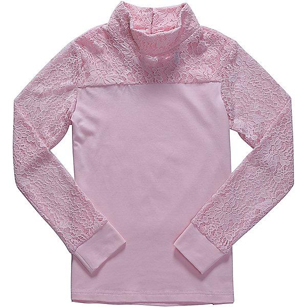 Блузка для девочки LuminosoБлузки и рубашки<br>Характеристики товара:<br><br>• цвет: розовый;<br>• состав: 95% хлопок, 5% эластан;<br>• сезон: демисезон;<br>• особенности: школьная, с кружевом;<br>• застежка: пуговицы на спинке;<br>• с длинным рукавом;<br>• воротник-стойка;<br>• рукава из эластичного кружева с мягким манжетом;<br>• страна бренда: Россия;<br>• страна производства: Китай.<br><br>Школьная блузка с длинным рукавом для девочки. Розовая блузка застегивается на пуговицы сзади. Воротник-стойка и кокетка декорированы контрастным кружевом белого цвета. Трикотажная блузка с длинным рукавом из эластичного кружева с мягким манжетом.<br><br>Блузка для девочки Luminoso (Люминосо) можно купить в нашем интернет-магазине.<br><br>Ширина мм: 186<br>Глубина мм: 87<br>Высота мм: 198<br>Вес г: 197<br>Цвет: розовый<br>Возраст от месяцев: 120<br>Возраст до месяцев: 132<br>Пол: Женский<br>Возраст: Детский<br>Размер: 146,122,164,158,152,140,134,128<br>SKU: 6673121