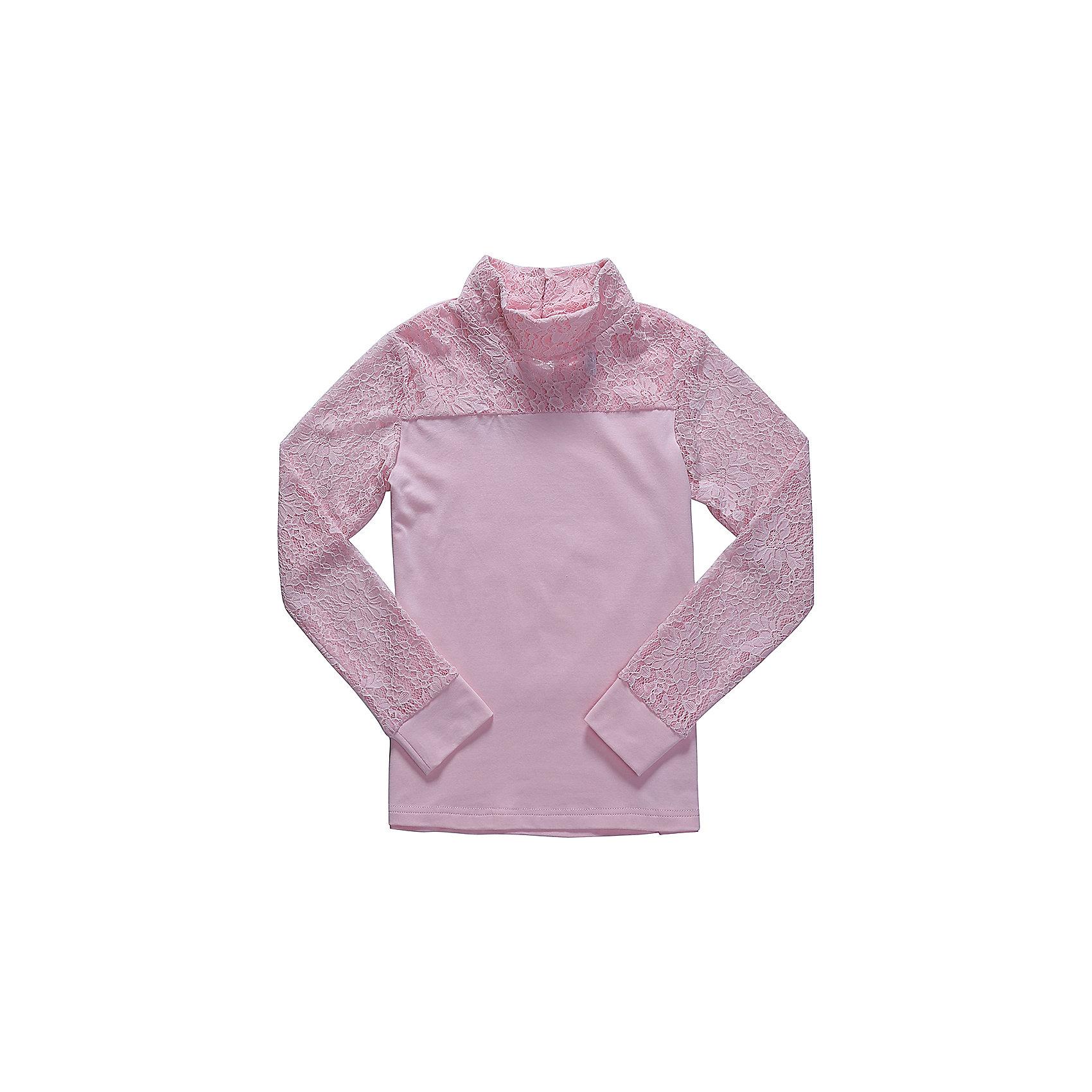 Блузка для девочки LuminosoБлузки и рубашки<br>Характеристики товара:<br><br>• цвет: розовый;<br>• состав: 95% хлопок, 5% эластан;<br>• сезон: демисезон;<br>• особенности: школьная, с кружевом;<br>• застежка: пуговицы на спинке;<br>• с длинным рукавом;<br>• воротник-стойка;<br>• рукава из эластичного кружева с мягким манжетом;<br>• страна бренда: Россия;<br>• страна производства: Китай.<br><br>Школьная блузка с длинным рукавом для девочки. Розовая блузка застегивается на пуговицы сзади. Воротник-стойка и кокетка декорированы контрастным кружевом белого цвета. Трикотажная блузка с длинным рукавом из эластичного кружева с мягким манжетом.<br><br>Блузка для девочки Luminoso (Люминосо) можно купить в нашем интернет-магазине.<br><br>Ширина мм: 186<br>Глубина мм: 87<br>Высота мм: 198<br>Вес г: 197<br>Цвет: розовый<br>Возраст от месяцев: 96<br>Возраст до месяцев: 108<br>Пол: Женский<br>Возраст: Детский<br>Размер: 134,164,122,128,140,146,152,158<br>SKU: 6673121