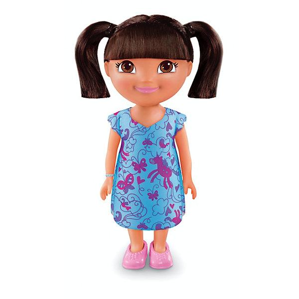 Кукла Даша-путешественница из серии Приключения каждый день, Fisher PriceКуклы<br>Характеристики товара:<br><br>• возраст от 3 лет;<br>• материал: пластик, текстиль;<br>• высота куклы 22 см;<br>• размер упаковки 23х12,5х9 см;<br>• вес упаковки 238 гр.;<br>• страна производитель: Китай.<br><br>Кукла Даша-путешественница «Приключения каждый день» Fisher Price — героиня известного мультсериала про улыбчивую и любопытную Дашу, которая любит путешествовать и постоянно что-то исследовать и узнавать. Кукла одета в голубое платье с принтом, розовые туфельки, а на руке ее любимый голубой браслет. У Даши большие глаза и мягкие темные волосы, которые можно расчесывать, заплетать и украшать. Во время увлекательной игры с куклой девочка может придумывать свои истории и сюжеты.<br><br>Куклу Дашу-путешественницу «Приключения каждый день» Fisher Price можно приобрести в нашем интернет-магазине.<br><br>Ширина мм: 125<br>Глубина мм: 90<br>Высота мм: 230<br>Вес г: 238<br>Возраст от месяцев: 36<br>Возраст до месяцев: 120<br>Пол: Женский<br>Возраст: Детский<br>SKU: 6673380