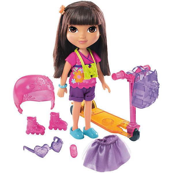 Кукла Даша-путешественница с аксессуарами, Fisher PriceНаборы с куклой<br>Характеристики товара:<br><br>• возраст от 3 лет;<br>• материал: пластик, текстиль;<br>• в комплекте: кукла, аксессуары;<br>• высота куклы 20 см;<br>• размер упаковки 28х24х7 см;<br>• вес упаковки 436 гр.;<br>• страна производитель: Китай.<br><br>Кукла Даша-путешественница с аксессуарами Fisher Price — героиня известного мультсериала про улыбчивую и любопытную Дашу, которая любит путешествовать и постоянно что-то исследовать и узнавать. У Даши большие глаза и мягкие темные волосы, которые можно расчесывать, заплетать и украшать. В комплекте аксессуары, с которыми Даша может активно провести прогулку: самокат, ролики, защитный шлем. Она обязательно берет с собой свой рюкзачок и фотоаппарат, чтобы запечатлеть самые яркие моменты. Во время увлекательной игры с куклой девочка может придумывать свои истории и сюжеты.<br><br>Куклу Дашу-путешественницу с аксессуарами Fisher Price можно приобрести в нашем интернет-магазине.<br><br>Ширина мм: 240<br>Глубина мм: 70<br>Высота мм: 280<br>Вес г: 436<br>Возраст от месяцев: 36<br>Возраст до месяцев: 120<br>Пол: Женский<br>Возраст: Детский<br>SKU: 6673383