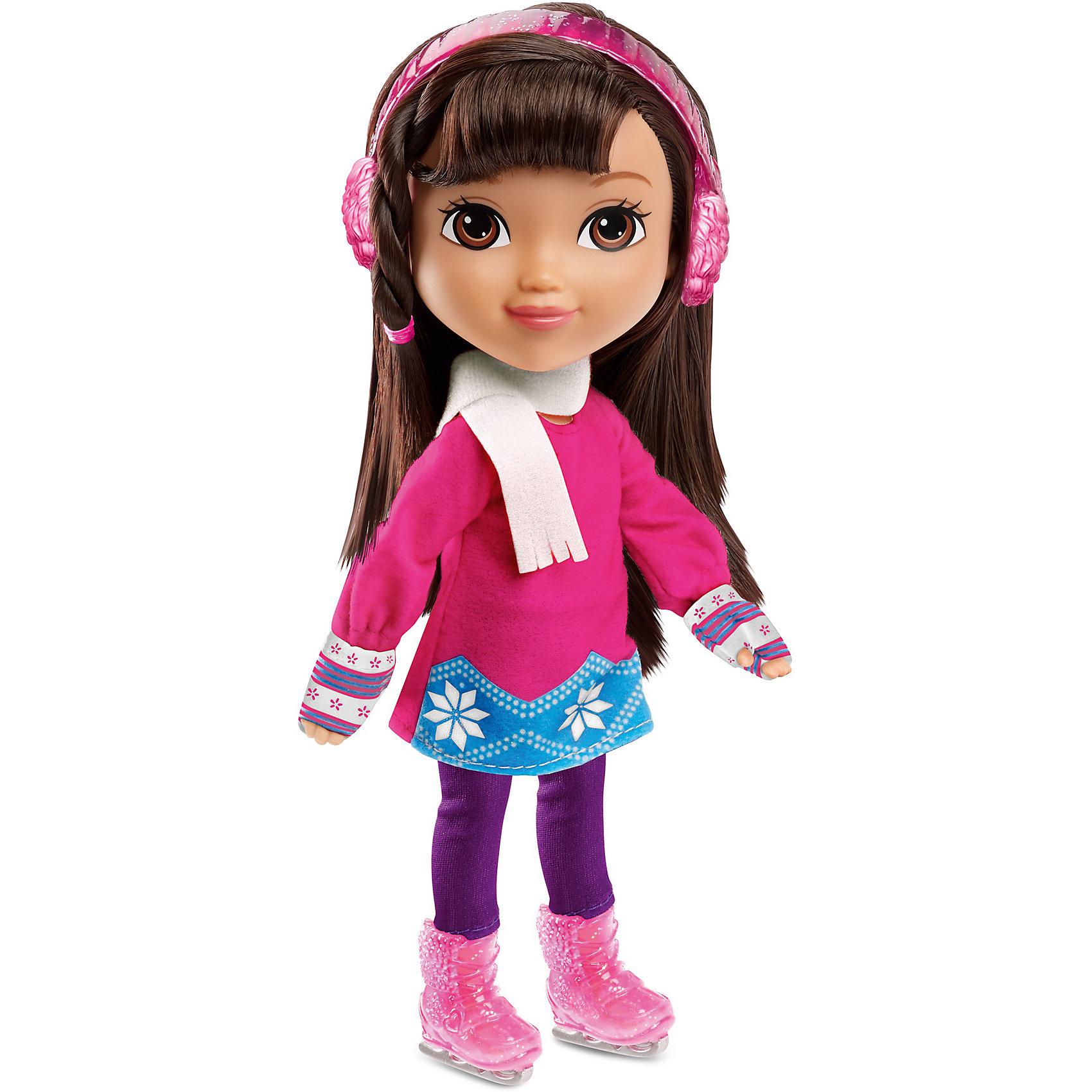 Кукла Даша-путешественница с аксессуарами, Fisher PriceКлассические куклы<br>Характеристики товара:<br><br>• возраст от 3 лет;<br>• материал: пластик, текстиль;<br>• в комплекте: кукла, аксессуары;<br>• высота куклы 20 см;<br>• размер упаковки 28х24х7 см;<br>• вес упаковки 436 гр.;<br>• страна производитель: Китай.<br><br>Кукла Даша-путешественница с аксессуарами Fisher Price — героиня известного мультсериала про улыбчивую и любопытную Дашу, которая любит путешествовать и постоянно что-то исследовать и узнавать. У Даши большие глаза и мягкие темные волосы, которые можно расчесывать, заплетать и украшать. В комплекте аксессуары, с которыми Даша может активно провести зимнюю прогулку: коньки, сноуборд, защитный шлем. Во время увлекательной игры с куклой девочка может придумывать свои истории и сюжеты.<br><br>Куклу Дашу-путешественницу с аксессуарами Fisher Price можно приобрести в нашем интернет-магазине.<br><br>Ширина мм: 240<br>Глубина мм: 70<br>Высота мм: 280<br>Вес г: 436<br>Возраст от месяцев: 36<br>Возраст до месяцев: 120<br>Пол: Женский<br>Возраст: Детский<br>SKU: 6673384