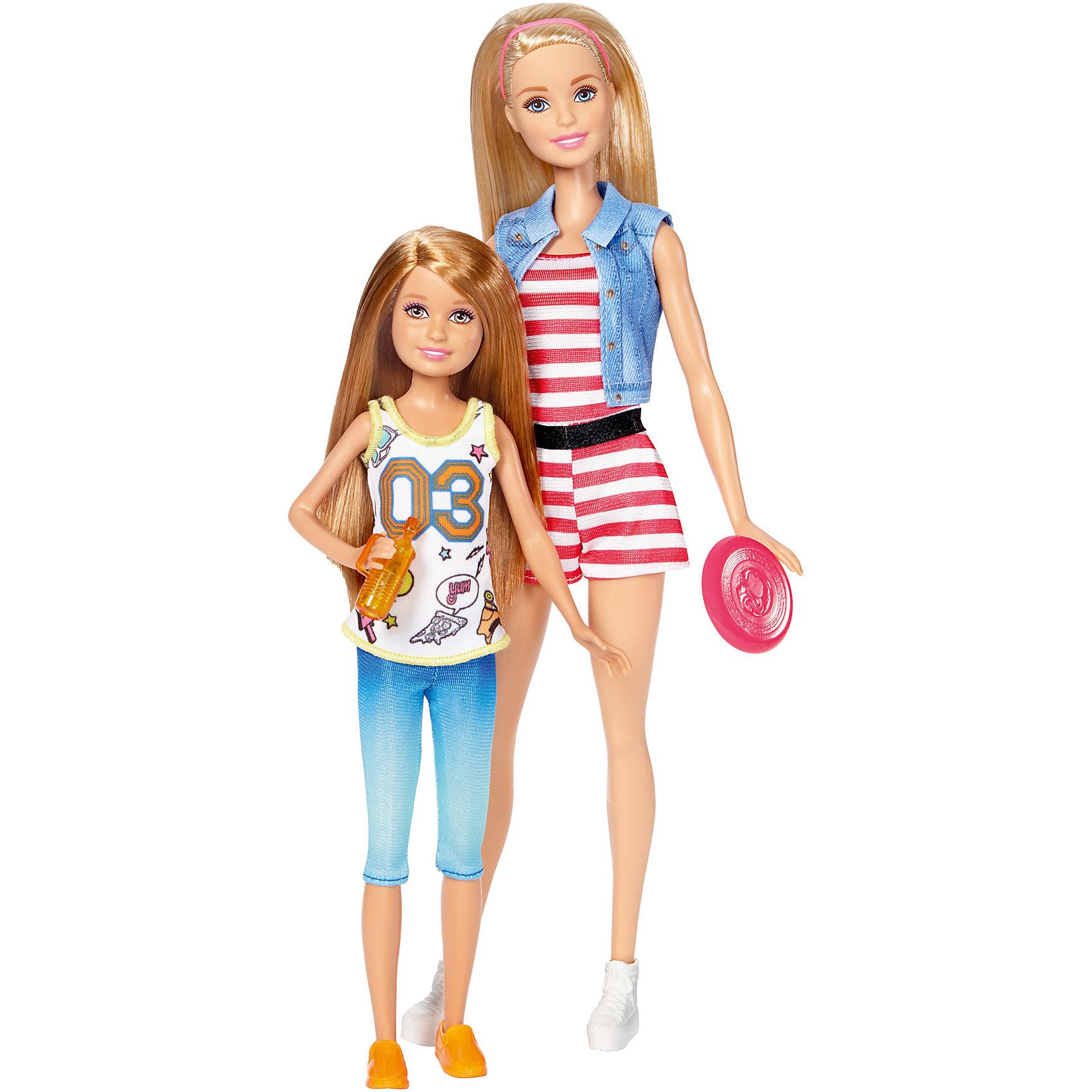 Набор кукол Скиппер и Стейси, BarbieКуклы-модели<br>Характеристики товара:<br><br>• возраст от 3 лет;<br>• материал: пластик, текстиль;<br>• в комплекте: 2 куклы, аксессуары;<br>• высота кукол 28 и 21 см;<br>• размер упаковки 32,5х20,5х6 см;<br>• вес упаковки 500 гр.;<br>• страна производитель: Китай.<br><br>Набор кукол Барби и Стейси Barbie — набор из 2 очаровательных сестренок, которые любят активно проводить время на свежем воздухе. У кукол длинные мягкие волосы, которые можно расчесывать, заплетать и украшать. Девочка может брать куколок с собой на прогулку, в гости к подружке и придумывать интересные сюжеты для игры.<br><br>Набор кукол Барби и Стейси Barbie можно приобрести в нашем интернет-магазине.<br><br>Ширина мм: 205<br>Глубина мм: 60<br>Высота мм: 325<br>Вес г: 500<br>Возраст от месяцев: 36<br>Возраст до месяцев: 120<br>Пол: Женский<br>Возраст: Детский<br>SKU: 6673385