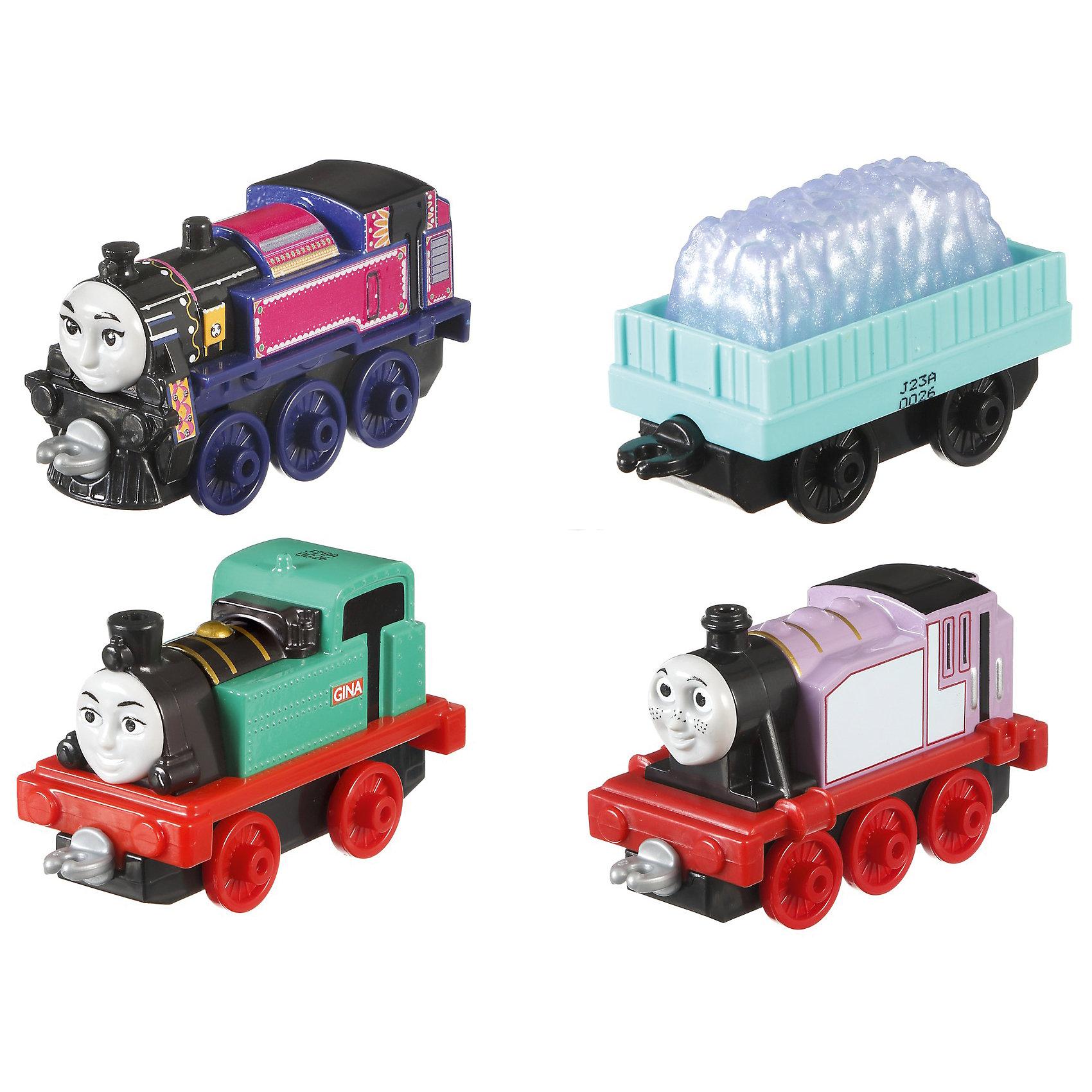 Набор из 3-х паровозиков с вагончиком, Томас и его друзьяПопулярные игрушки<br><br><br>Ширина мм: 130<br>Глубина мм: 40<br>Высота мм: 260<br>Вес г: 287<br>Возраст от месяцев: 36<br>Возраст до месяцев: 120<br>Пол: Мужской<br>Возраст: Детский<br>SKU: 6673391