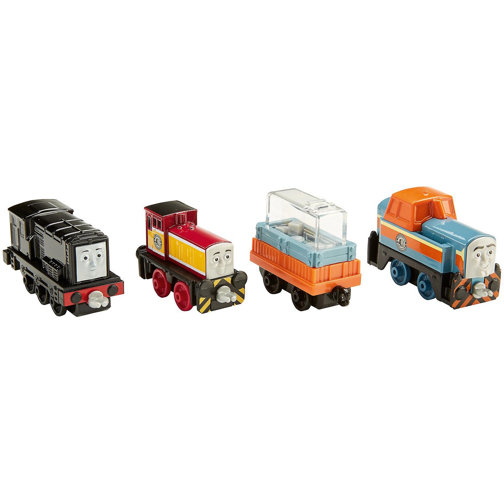 Набор из 3-х паровозиков с вагончиком, Томас и его друзьяПопулярные игрушки<br>Характеристики товара:<br><br>• возраст от 3 лет;<br>• материал: пластик;<br>• в комплекте: 3 паровозика, вагон;<br>• размер упаковки 26х13х4 см;<br>• вес упаковки 287 гр.;<br>• страна производитель: Тайланд.<br><br>Набор из 3 паровозиков с вагончиком «Томас и его друзья» Fisher Price — увлекательный набор любимых персонажей мультфильма про паровозики, которые живут в городке Содор. Паровозики соединяются между собой, а также к ним крепится вагончик для перевозки грузов. С любимыми героями можно придумывать сюжеты для игры, проявляя свое воображение и фантазию. Игрушки выполнены из качественного прочного пластика.<br><br>Набор из 3 паровозиков с вагончиком «Томас и его друзья» Fisher Price можно приобрести в нашем интернет-магазине.<br><br>Ширина мм: 130<br>Глубина мм: 40<br>Высота мм: 260<br>Вес г: 287<br>Возраст от месяцев: 36<br>Возраст до месяцев: 120<br>Пол: Мужской<br>Возраст: Детский<br>SKU: 6673394