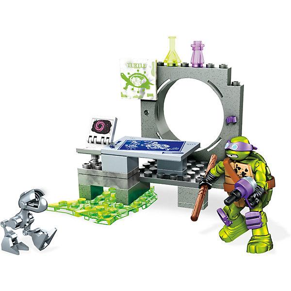 Черепашки Ниндзя: игровой набор Атака Мышелова, MEGA BLOKSПластмассовые конструкторы<br>Характеристики товара:<br><br>• возраст от 5 лет;<br>• материал: пластик;<br>• в комплекте: фигурка, 46 деталей конструктора;<br>• высота фигурки 4,5 см;<br>• размер упаковки 20,5х15х4,5 см;<br>• вес упаковки 226 гр.;<br>• страна производитель: Китай.<br><br>Конструктор Черепашки Ниндзя «Атака мышелова» Mega Bloks — увлекательный конструктор, созданный по мотивам мультфильма про Черепашек Ниндзя. Из деталей конструктора предстоит собрать канализационное логово Донателло, в котором он ставит опыты, эксперименты и защищается от врагов. Логово оборудовано пусковой установкой. У фигурки Донателло вращается голова, подвижные руки и ноги. Изготовлен конструктор из качественного безвредного пластика. В процессе сборки у детей развивается логическое мышление, мелкая моторика рук, усидчивость.<br><br>Конструктор Черепашки Ниндзя «Атака мышелова» Mega Bloks можно приобрести в нашем интернет-магазине.<br><br>Ширина мм: 150<br>Глубина мм: 45<br>Высота мм: 205<br>Вес г: 226<br>Возраст от месяцев: 60<br>Возраст до месяцев: 120<br>Пол: Мужской<br>Возраст: Детский<br>SKU: 6673398