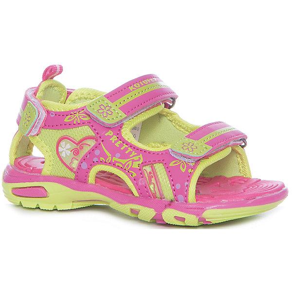 Сандалии для девочки КотофейСандалии<br>Сандалии для девочки Котофей<br>Самая летняя и очень легкая обувь! Сандалии имеют небольшой мягкий задник и открытый нос. Украшены стильными контрастными цветами, строчками и декоративными элементами. Выполнены из износостойкой и надёжной искусственной кожи. Подошва этой модели анатомическая, учитывает особенности стопы, выполнена из термоэластопласта, с текстильным материалом подкладки. Две удобные \липучки\, максимально комфортно и быстро регулируют обувь на ноге. Эти сандалии прекрасно подойдут для походов в бассейн или на пляж в жаркие летние дни!<br>Материал верха<br>    3 Искусственная кожа<br><br>Материал подклада<br>    1 Текстильная<br><br>Материал подошвы<br>    ТЭП<br><br>Ширина мм: 219<br>Глубина мм: 154<br>Высота мм: 121<br>Вес г: 343<br>Цвет: розовый<br>Возраст от месяцев: 60<br>Возраст до месяцев: 72<br>Пол: Женский<br>Возраст: Детский<br>Размер: 29,25,28,27,26<br>SKU: 6673502