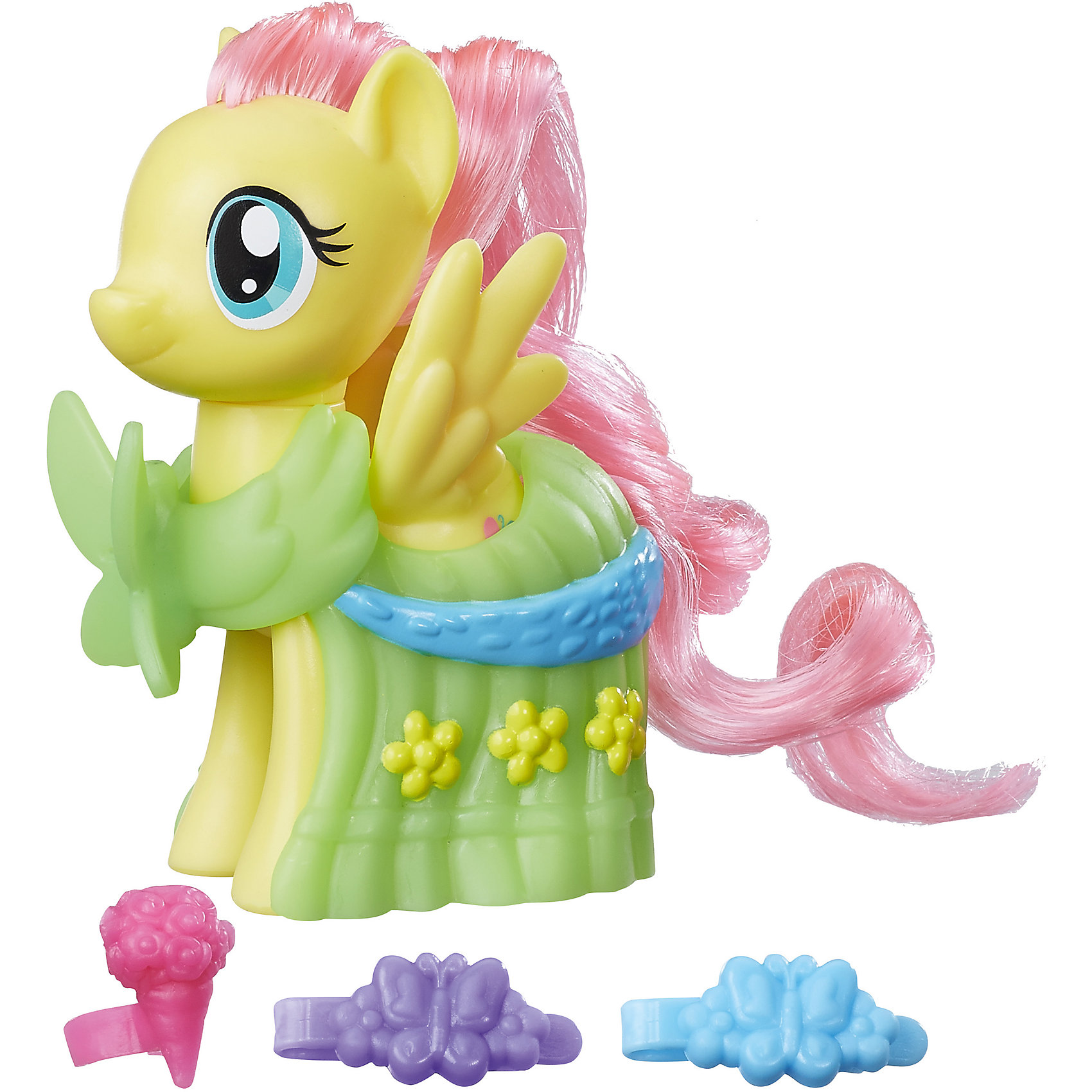 Игровой набор Hasbro My little Pony Пони-модницы, ФлаттершайЛюбимые герои<br>Характеристики товара:<br><br>• возраст: от 3 лет;<br>• материал: пластик;<br>• в комплекте: фигурка пони, аксессуары;<br>• размер фигурки: 8 см;<br>• размер упаковки: 18,4х17,8х4,8 см;<br>• вес упаковки: 145 гр.;<br>• страна производитель: Китай.<br><br>Игровой набор «Пони-модницы» My Little Pony Hasbro создан по мотивам известного мультсериала. В наборе фигурка пони Флаттершай с розовой гривой и зеленым костюмчиком, украшенным цветами. Стильные аксессуары дополнят образ маленькой пони. Мягкий хвостик и гриву можно расчесывать, заплетать, украшать, придумывая каждый раз новый оригинальный образ. <br><br>Игровой набор «Пони-модницы» My Little Pony Hasbro B8810/B9621 можно приобрести в нашем интернет-магазине.<br><br>Ширина мм: 48<br>Глубина мм: 178<br>Высота мм: 184<br>Вес г: 145<br>Возраст от месяцев: 36<br>Возраст до месяцев: 2147483647<br>Пол: Женский<br>Возраст: Детский<br>SKU: 6674410