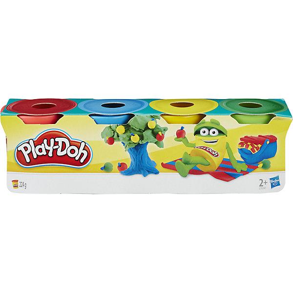 Пластилин Hasbro Play-Doh, 4 мини-баночкиИдеи подарков<br>Характеристики товара:<br><br>• возраст: от 2 лет;<br>• материал: пластик;<br>• в комплекте: 4 баночки;<br>• размер упаковки: 21х5,7х5,4 см;<br>• вес упаковки: 300 гр.;<br>• страна производитель: Китай.<br><br>Набор из 4-х мини-баночек Play-Doh Habsro позволит вылепить из пластилина многочисленные фигурки, домики, цветы, животных. Лепка из пластилина развивает у малышей мелкую моторику рук, усидчивость, внимательность, позволяет проявить свои творческие способности и фантазию.<br><br>Пластилин Play-Doh не липнет к рукам и не пачкает одежду. Перед использованием его следует немного смочить водой. Он легко принимает нужную форму, а спустя некоторое время застывает. В составе не содержатся токсичные компоненты. Он создан на основе органических компонентов и безопасен даже, если ребенок решит попробовать его на вкус.<br><br>Набор из 4-х мини-баночек Play-Doh Habsro 23241 можно приобрести в нашем интернет-магазине.<br>Ширина мм: 54; Глубина мм: 210; Высота мм: 57; Вес г: 300; Возраст от месяцев: 24; Возраст до месяцев: 2147483647; Пол: Унисекс; Возраст: Детский; SKU: 6674416;