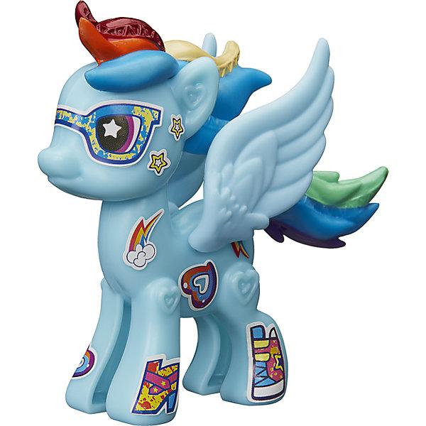 Игровой набор Hasbro My little Pony Создай свою пони, Рейнбоу ДэшПопулярные игрушки<br>Характеристики товара:<br><br>• возраст: от 4 лет;<br>• материал: пластик;<br>• в комплекте: фигурка пони, аксессуары;<br>• размер упаковки: 20,5х14,9х16,2 см;<br>• вес упаковки: 65 гр.;<br>• страна производитель: Китай.<br><br>Игровой набор «Создай свою пони» My Little Pony создан по мотивам известного мультсериала. В наборе фигурка пони и аксессуары для придания пони стильного образа. Наклейками можно украсить пони, проявив фантазию. <br><br>Игровой набор «Создай свою пони» My Little Pony Hasbro B3592/B5105 можно приобрести в нашем интернет-магазине.<br>Ширина мм: 205; Глубина мм: 162; Высота мм: 149; Вес г: 65; Возраст от месяцев: 48; Возраст до месяцев: 2147483647; Пол: Женский; Возраст: Детский; SKU: 6674417;