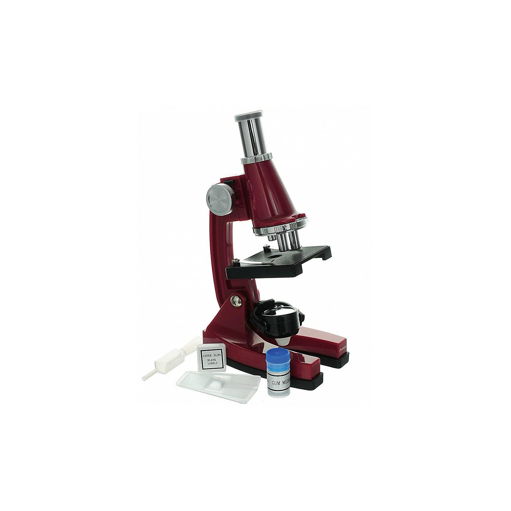 Набор Юный биолог, 18 предм., пласиковый, цвет в ассортиментеМикроскопы<br>Характеристики:<br><br>• возраст: от 8 лет<br>• комплектация: микроскоп; чистые слайды 3шт; готовый слайд; чистые ярлыки 6шт; покрывные стекла 6шт; пипетка; инструкция<br>• размер микроскопа: 12х7х21 см.<br>• батарейки: 2 типа АА<br>• наличие батареек: не входят в комплект<br>• материал: пластик, металл, стекло<br>• ВНИМАНИЕ! Данный артикул представлен в разных вариантах исполнения. К сожалению, заранее выбрать определенный вариант невозможно. При заказе нескольких наборов возможно получение одинаковых<br><br>Набор «Юный биолог» содержит микроскоп и 17 предметов, с помощью которых можно изучать и наблюдать удивительный микромир.<br><br>Окуляр микроскопа имеет десятикратное увеличение. Вращающаяся колонка содержит три объектива с разной степенью увеличения (10х, 20х, 45х). Под колонкой находится столик с отверстием, для того чтобы дневной свет отраженный от зеркала мог попадать в объектив. Зажимы столика надежно фиксируют слайды.<br><br>Благодаря прорезиненному основанию микроскоп будет прочно стоять на поверхности.<br><br>Набор Юный биолог, 18 предм., пласиковый, цвет в ассортименте можно купить в нашем интернет-магазине.<br><br>Ширина мм: 160<br>Глубина мм: 240<br>Высота мм: 80<br>Вес г: 425<br>Возраст от месяцев: 96<br>Возраст до месяцев: 2147483647<br>Пол: Унисекс<br>Возраст: Детский<br>SKU: 6674609