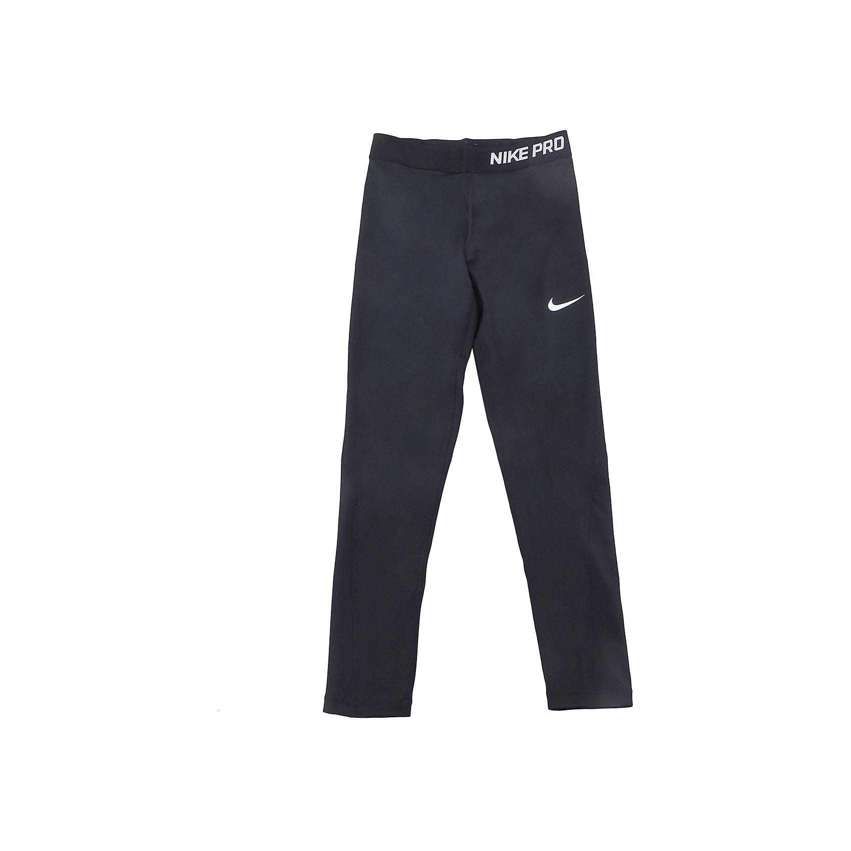 Леггинсы NIKEСпортивная форма<br>Характеристики товара:<br><br>• цвет: черный<br>• спортивный стиль<br>• состав:  полиэстер 80%, эластан 20%, ткань Nike Pro Cool <br>• мягкий пояс <br>• комфортная посадка<br>• вставки из сетки <br>• небольшой принт<br>• материал дарит ощущение прохлады и комфорт<br>• машинная стирка<br>• износостойкий материал<br>• страна бренда: США<br>• страна изготовитель: Вьетнам<br><br>Продукция бренда NIKE известна высоким качеством и уникальным узнаваемым дизайном. Удобная посадка не сковывает движения, помогает создать для тела необходимую вентиляцию и вывод влаги.<br><br>Материал брюк обеспечивает вещам долгий срок службы и отличный внешний вид даже после значительного количества стирок. Уход за изделием прост - достаточно машинной стирки на низкой температуре.<br><br>Качественный материал создает комфортную посадку, вещь при этом смотрится очень стильно. Благодаря универсальному цвету она отлично смотрится с разной одеждой и обувью.<br><br>Леггинсы NIKE (Найк) можно купить в нашем интернет-магазине.<br><br>Ширина мм: 123<br>Глубина мм: 10<br>Высота мм: 149<br>Вес г: 209<br>Цвет: черный<br>Возраст от месяцев: 84<br>Возраст до месяцев: 96<br>Пол: Унисекс<br>Возраст: Детский<br>Размер: 122/128,158/170,128/134,135/140,147/158<br>SKU: 6676545