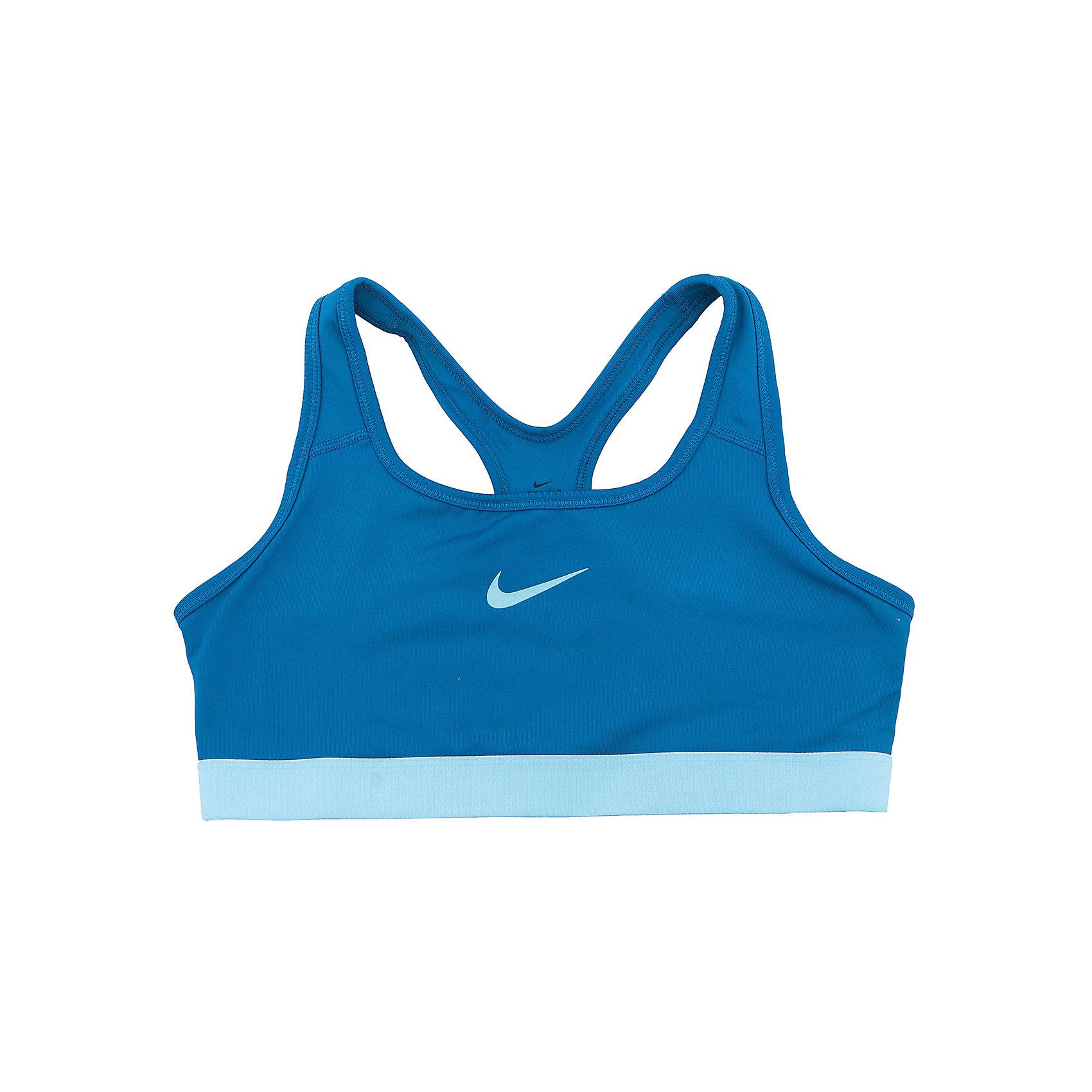 Топ NIKEСпортивная форма<br>Характеристики товара:<br><br>• цвет: синий<br>• спортивный стиль<br>• состав: полиэстер 88%, эластан 12%, материал Dri-FIT<br>• ткань выводит лишнюю влагу<br>• комфортная посадка<br>• ткань оказывает поддержку мышцам и стимулирует кровообращение<br>• мягкие швы не натирают<br>• не сковывает движения<br>• без рукавов<br>• принт<br>• машинная стирка<br>• износостойкий материал<br>• коллекция: весна-лето 2017<br>• страна бренда: США<br>• страна изготовитель: Шри-Ланка<br><br>Продукция бренда NIKE известна высоким качеством и уникальным узнаваемым дизайном. Материал Dri-FIT, из которого сшито изделие, помогает создать для тела необходимую вентиляцию и вывод влаги.<br><br>Материал Dri-FIT также обеспечивает вещам долгий срок службы и отличный внешний вид даже после значительного количества стирок. Уход за изделием прост - достаточно машинной стирки на низкой температуре.<br><br>Легкий и эластичный материал создает комфортную посадку, вещь при этом смотрится очень стильно. Благодаря универсальному цвету она отлично смотрится с разной одеждой и обувью.<br><br>Топ NIKE (Найк) можно купить в нашем интернет-магазине.<br><br>Ширина мм: 199<br>Глубина мм: 10<br>Высота мм: 161<br>Вес г: 151<br>Цвет: синий<br>Возраст от месяцев: 108<br>Возраст до месяцев: 120<br>Пол: Унисекс<br>Возраст: Детский<br>Размер: 135/140,122/128,128/134,147/158,158/170<br>SKU: 6676564