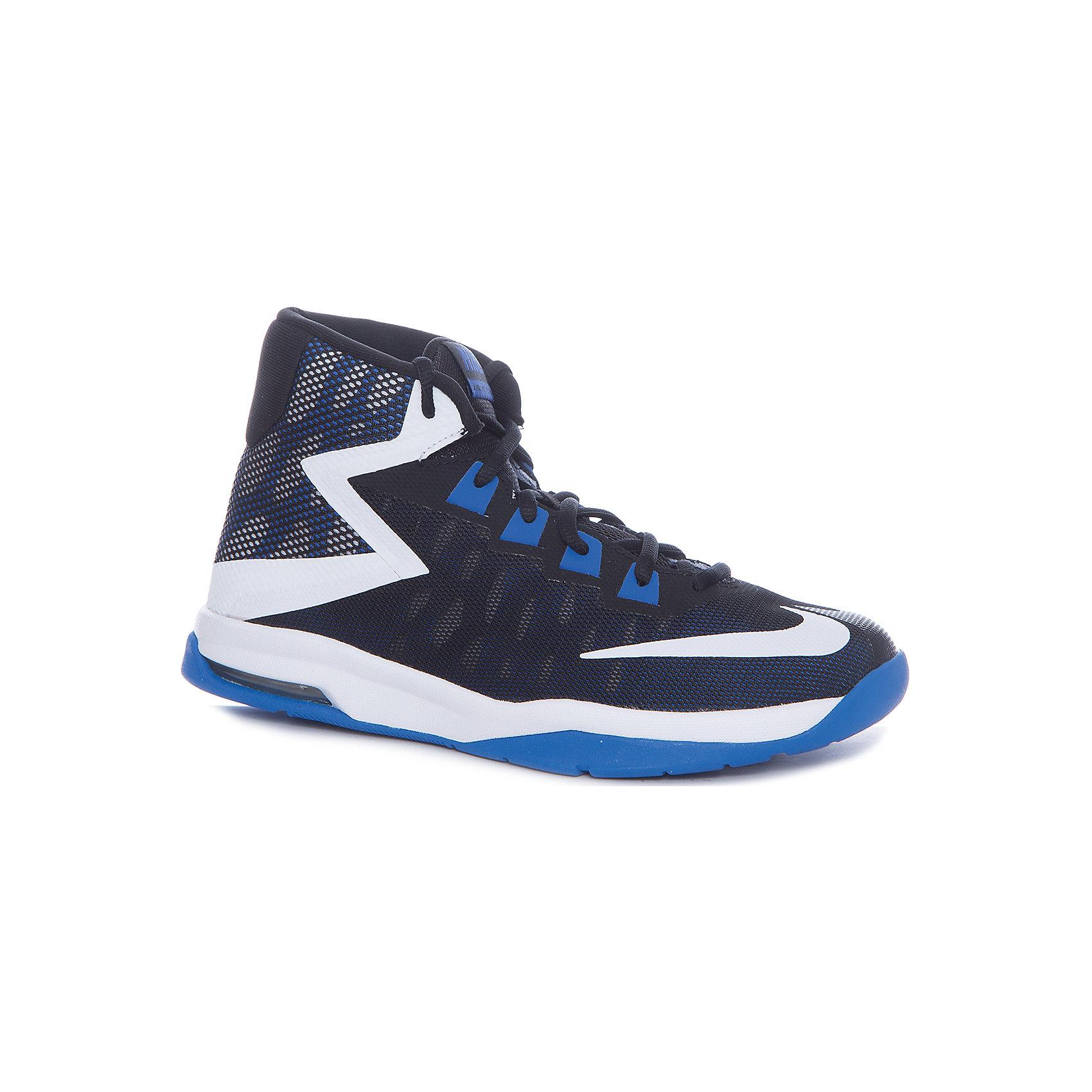 Кроссовки NIKEКроссовки<br>Характеристики товара:<br><br>• цвет: синий<br>• спортивный стиль<br>• внешний материал обуви: искусственная кожа, текстиль<br>• внутренний материал: текстиль<br>• стелька: текстиль<br>• подошва: резина<br>• легкие<br>• дышащие<br>• декорированы логотипом<br>• вставка в подошве для мягкой амортизации<br>• тип застежки: шнуровка<br>• сезон: весна, лето<br>• температурный режим: от +10°С до +20°С<br>• устойчивая подошва<br>• защищенный мыс и пятка<br>• износостойкий материал<br>• коллекция: весна-лето 2017<br>• страна бренда: США<br>• страна изготовитель: Индонезия<br><br>Продукция бренда NIKE известна высоким качеством, уникальным узнаваемым дизайном и проработанными деталями, которые создают удобство при занятиях спортом и долгой ходьбе. Качественный текстиль в качестве внутреннего материала помогает этой модели обеспечить ребенку комфорт и предотвратить натирание.<br><br>Уход за такой обувью прост, она легко чистится и быстро сушится. Надевается элементарно благодаря удобным застежкам. <br><br>Обувь качественно проработана, она долго служит, удобно сидит, отлично защищает детскую ногу от повреждений. Стильно выглядит и хорошо смотрится с одеждой разных цветов и стилей.<br><br>Кроссовки NIKE (Найк) можно купить в нашем интернет-магазине.<br><br>Ширина мм: 250<br>Глубина мм: 150<br>Высота мм: 150<br>Вес г: 250<br>Цвет: черный<br>Возраст от месяцев: 132<br>Возраст до месяцев: 144<br>Пол: Унисекс<br>Возраст: Детский<br>Размер: 34.5,35.5,36,37,37.5,38,38.5,39<br>SKU: 6676603