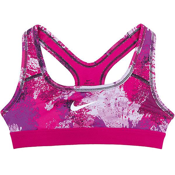 Топ NIKEСпортивная форма<br>Характеристики товара:<br><br>• цвет: розовый<br>• спортивный стиль<br>• состав: полиэстер 88%, эластан 12%, материал Dri-FIT<br>• ткань выводит лишнюю влагу<br>• комфортная посадка<br>• ткань оказывает поддержку мышцам и стимулирует кровообращение<br>• мягкие швы не натирают<br>• не сковывает движения<br>• без рукавов<br>• принт<br>• машинная стирка<br>• износостойкий материал<br>• коллекция: весна-лето 2017<br>• страна бренда: США<br>• страна изготовитель: Шри-Ланка<br><br>Продукция бренда NIKE известна высоким качеством и уникальным узнаваемым дизайном. Материал Dri-FIT, из которого сшито изделие, помогает создать для тела необходимую вентиляцию и вывод влаги.<br><br>Материал Dri-FIT также обеспечивает вещам долгий срок службы и отличный внешний вид даже после значительного количества стирок. Уход за изделием прост - достаточно машинной стирки на низкой температуре.<br><br>Легкий и эластичный материал создает комфортную посадку, вещь при этом смотрится очень стильно. Благодаря универсальному цвету она отлично смотрится с разной одеждой и обувью.<br><br>Топ NIKE (Найк) можно купить в нашем интернет-магазине.<br><br>Ширина мм: 199<br>Глубина мм: 10<br>Высота мм: 161<br>Вес г: 151<br>Цвет: розовый<br>Возраст от месяцев: 84<br>Возраст до месяцев: 96<br>Пол: Унисекс<br>Возраст: Детский<br>Размер: 122/128,158/170,147/158,135/140,128/134<br>SKU: 6676636