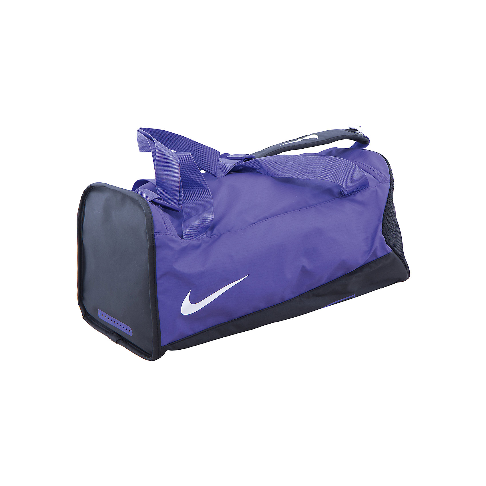Сумка NIKEСпортивные сумки<br>Характеристики товара:<br><br>• цвет: фиолетовый<br>• спортивный стиль<br>• состав: 100% полиэстер<br>• декорирована принтом<br>• большое основное отделение<br>• регулируемые лямки<br>• застежка: молния<br>• износостойкий материал<br>• коллекция: весна-лето 2017<br>• страна бренда: США<br>• страна изготовитель: Индонезия<br><br>Продукция бренда NIKE известна высоким качеством, уникальным узнаваемым дизайном и проработанными деталями, которые создают удобство при занятиях спортом и долгой ходьбе. <br><br>Уход за такой сумкой прост, она легко чистится и быстро сушится. Дополнена регулируемыми лямками, которые помогут обеспечить комфорт при ношении сумки. <br><br>Вместительные отделения сумки позволяют взять с собой нужные вещи, а удобный дизайн делает её незаменимой для спортсменов. Модель стильно выглядит и хорошо смотрится с одеждой разных цветов и стилей.<br><br>Сумку NIKE (Найк) можно купить в нашем интернет-магазине.<br><br>Ширина мм: 227<br>Глубина мм: 11<br>Высота мм: 226<br>Вес г: 350<br>Цвет: лиловый<br>Возраст от месяцев: 168<br>Возраст до месяцев: 1188<br>Пол: Унисекс<br>Возраст: Детский<br>Размер: one size<br>SKU: 6676687