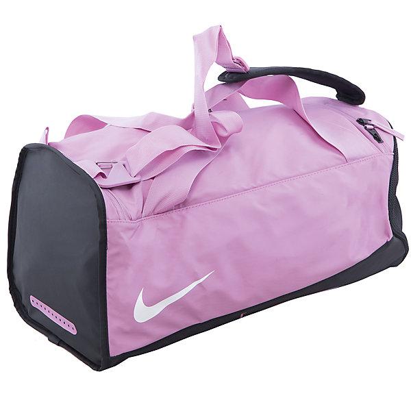 Сумка NIKEСпортивные сумки<br>Характеристики товара:<br><br>• цвет: розовый<br>• спортивный стиль<br>• состав: 100% полиэстер<br>• декорирована принтом<br>• большое основное отделение<br>• регулируемые лямки<br>• застежка: молния<br>• износостойкий материал<br>• коллекция: весна-лето 2017<br>• страна бренда: США<br>• страна изготовитель: Индонезия<br><br>Продукция бренда NIKE известна высоким качеством, уникальным узнаваемым дизайном и проработанными деталями, которые создают удобство при занятиях спортом и долгой ходьбе. <br><br>Уход за такой сумкой прост, она легко чистится и быстро сушится. Дополнена регулируемыми лямками, которые помогут обеспечить комфорт при ношении сумки. <br><br>Вместительные отделения сумки позволяют взять с собой нужные вещи, а удобный дизайн делает её незаменимой для спортсменов. Модель стильно выглядит и хорошо смотрится с одеждой разных цветов и стилей.<br><br>Сумку NIKE (Найк) можно купить в нашем интернет-магазине.<br><br>Ширина мм: 170<br>Глубина мм: 157<br>Высота мм: 67<br>Вес г: 117<br>Цвет: зеленый<br>Возраст от месяцев: 168<br>Возраст до месяцев: 1188<br>Пол: Унисекс<br>Возраст: Детский<br>Размер: one size<br>SKU: 6676769