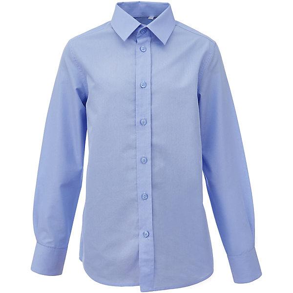 Рубашка для мальчика GulliverБлузки и рубашки<br>Характеристики товара:<br><br>• цвет: голубой<br>• состав: 80% хлопок, 20% полиэстер <br>• сезон: круглый год<br>• длинные рукава<br>• воротник-стойка<br>• застежки: пуговицы<br>• особенности: школьная, повседневная<br>• страна бренда: Российская Федерация<br>• страна производства: Российская Федерация<br><br>Школьная рубашка с длинным рукавом для мальчика. Строгая, лаконичная, элегантная, голубая рубашка для школы настроит на серьезный и ответственный подход к делу. Однотонная рубашка застегивается на пуговицы, манжеты рукавов на трех пуговицах.<br><br>Рубашку для мальчика Gulliver (Гулливер) можно купить в нашем интернет-магазине.<br><br>Ширина мм: 174<br>Глубина мм: 10<br>Высота мм: 169<br>Вес г: 157<br>Цвет: голубой<br>Возраст от месяцев: 84<br>Возраст до месяцев: 96<br>Пол: Мужской<br>Возраст: Детский<br>Размер: 128,170,164,158,152,146,140,134,122<br>SKU: 6678266