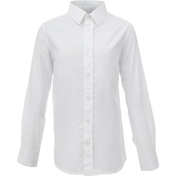 Рубашка для мальчика GulliverБлузки и рубашки<br>Характеристики товара:<br><br>• цвет: белый<br>• состав: 60% хлопок, 40% полиэстер <br>• сезон: круглый год<br>• особенности: школьная, повседневная<br>• воротник-стойка<br>• застежки: пуговицы<br>• манжеты на двух пуговицах<br>• страна бренда: Российская Федерация<br>• страна производства: Российская Федерация<br><br>Школьная рубашка с длинным рукавом для мальчика. Белая рубашка - классика жанра! Подходит как для школы, так и для торжественного случая. Застегивается на пуговицы. Манжеты на двух пуговицах.<br><br>Рубашку для мальчика Gulliver (Гулливер) можно купить в нашем интернет-магазине.<br>Ширина мм: 174; Глубина мм: 10; Высота мм: 169; Вес г: 157; Цвет: белый; Возраст от месяцев: 72; Возраст до месяцев: 84; Пол: Мужской; Возраст: Детский; Размер: 122,170,164,158,152,146,140,134,128; SKU: 6678276;