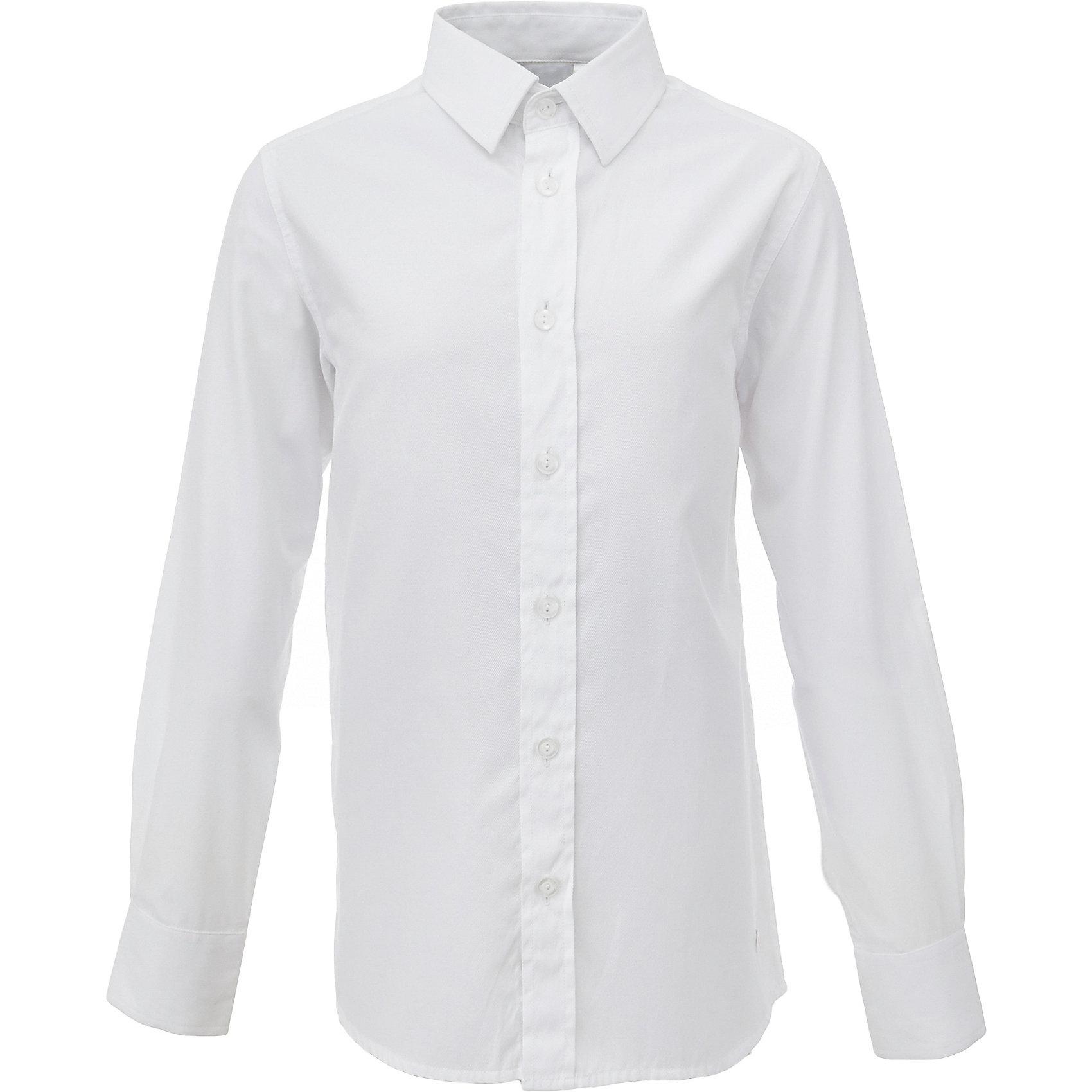 Рубашка для мальчика GulliverБлузки и рубашки<br>Характеристики товара:<br><br>• цвет: белый<br>• состав: 60% хлопок, 40% полиэстер <br>• сезон: круглый год<br>• особенности: школьная, повседневная<br>• воротник-стойка<br>• застежки: пуговицы<br>• манжеты на двух пуговицах<br>• страна бренда: Российская Федерация<br>• страна производства: Российская Федерация<br><br>Школьная рубашка с длинным рукавом для мальчика. Белая рубашка - классика жанра! Подходит как для школы, так и для торжественного случая. Застегивается на пуговицы. Манжеты на двух пуговицах.<br><br>Рубашку для мальчика Gulliver (Гулливер) можно купить в нашем интернет-магазине.<br><br>Ширина мм: 174<br>Глубина мм: 10<br>Высота мм: 169<br>Вес г: 157<br>Цвет: белый<br>Возраст от месяцев: 168<br>Возраст до месяцев: 180<br>Пол: Мужской<br>Возраст: Детский<br>Размер: 170,122,128,134,140,146,152,158,164<br>SKU: 6678276