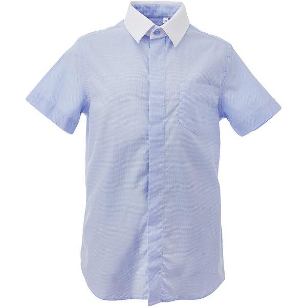 Рубашка для мальчика GulliverБлузки и рубашки<br>Характеристики товара:<br><br>• цвет: голубой<br>• состав: 80% хлопок, 20% полиэстер <br>• сезон: круглый год<br>• особенности: школьная, повседневная<br>• воротник-стойка<br>• застежки: пуговицы<br>• с коротким рукавом<br>• страна бренда: Российская Федерация<br>• страна производства: Российская Федерация<br><br>Школьная рубашка с коротким рукавом для малчика. Голубая рубшка застегивается на пуговицы. Воротник контрастного белого цвета.<br><br>Рубашку для мальчика Gulliver (Гулливер) можно купить в нашем интернет-магазине.<br><br>Ширина мм: 174<br>Глубина мм: 10<br>Высота мм: 169<br>Вес г: 157<br>Цвет: голубой<br>Возраст от месяцев: 72<br>Возраст до месяцев: 84<br>Пол: Мужской<br>Возраст: Детский<br>Размер: 122,170,164,158,152,146,140,134,128<br>SKU: 6678306