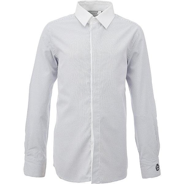 Рубашка для мальчика GulliverБлузки и рубашки<br>Характеристики товара:<br><br>• цвет: серый<br>• состав: 80% хлопок, 20% полиэстер <br>• сезон: круглый год<br>• с длинным рукавом<br>• воротник-стойка<br>• застежки: пуговицы<br>• особенности: школьная, повседневная, в полоску<br>• страна бренда: Российская Федерация<br>• страна производства: Российская Федерация<br><br>Школьная рубашка с длинным рукавом для мальчика. Серая рубашка в полоску застегивается на пуговицы, манжеты на трех пуговицах. Воротник контрастного белого цвета.<br><br>Рубашку для мальчика Gulliver (Гулливер) можно купить в нашем интернет-магазине.<br>Ширина мм: 174; Глубина мм: 10; Высота мм: 169; Вес г: 157; Цвет: серый; Возраст от месяцев: 156; Возраст до месяцев: 168; Пол: Мужской; Возраст: Детский; Размер: 164,158,152,146,140,134,128,122,170; SKU: 6678326;