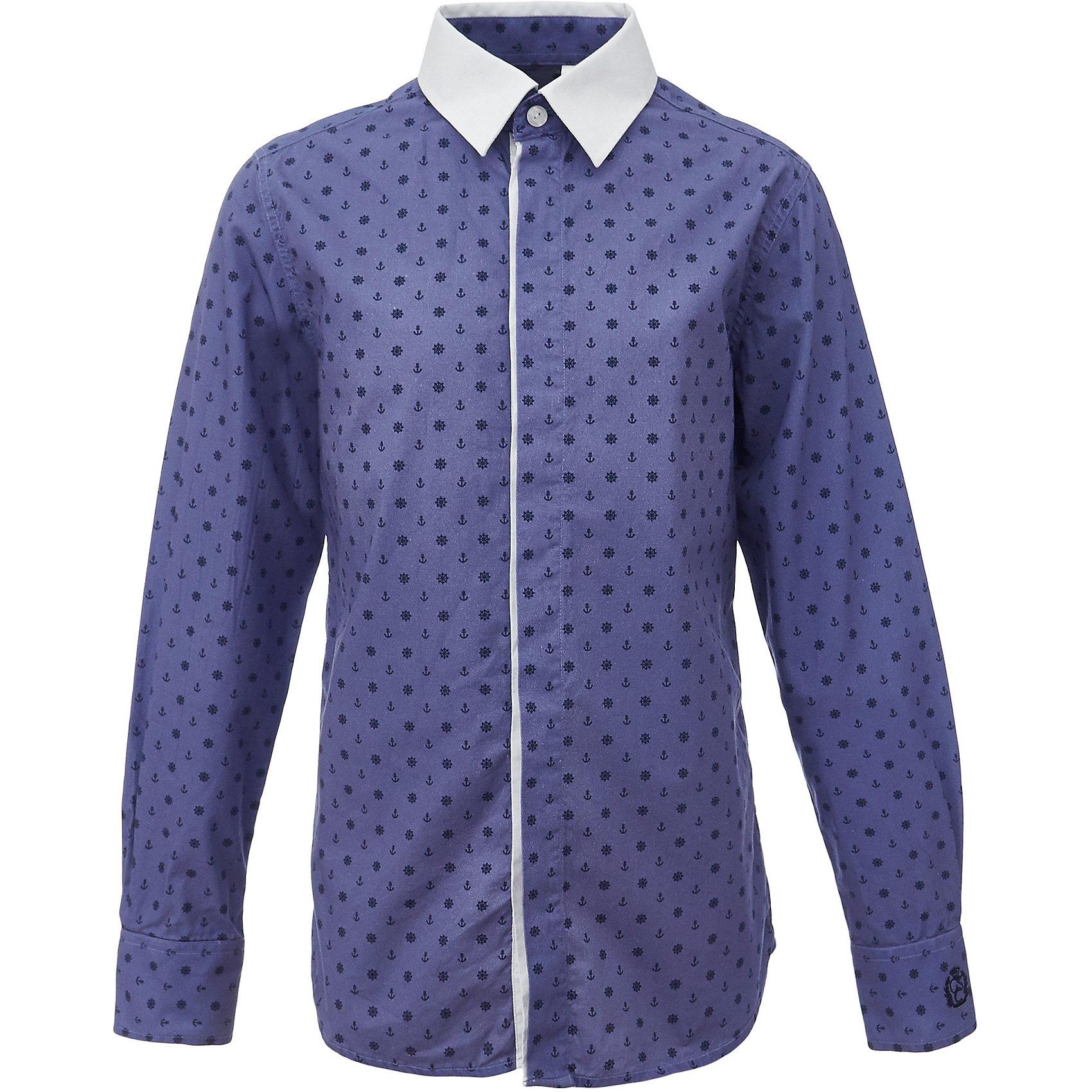 Рубашка для мальчика GulliverБлузки и рубашки<br>Характеристики товара:<br><br>• цвет: синий<br>• состав: 80% хлопок, 20% полиэстер <br>• сезон: круглый год<br>• с длинным рукавом<br>• воротник-стойка<br>• застежки: пуговицы<br>• манжеты на трех пуговицах<br>• особенности: школьная, повседневная, с рисунком<br>• страна бренда: Российская Федерация<br>• страна производства: Российская Федерация<br><br>Школьная рубашка с длинным рукавом для мальчика. Синяя рубашка с мелким рисунком застегивается на пуговицы, манжеты рукавов на трех пуговицах. Воротник контрастного белого цвета.<br><br>Рубашку для мальчика Gulliver (Гулливер) можно купить в нашем интернет-магазине.<br><br>Ширина мм: 174<br>Глубина мм: 10<br>Высота мм: 169<br>Вес г: 157<br>Цвет: синий<br>Возраст от месяцев: 168<br>Возраст до месяцев: 180<br>Пол: Мужской<br>Возраст: Детский<br>Размер: 170,122,128,134,140,146,152,158,164<br>SKU: 6678336