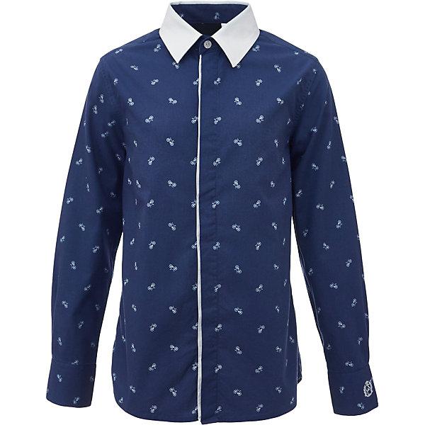 Рубашка для мальчика GulliverБлузки и рубашки<br>Характеристики товара:<br><br>• цвет: синий<br>• состав: 100% хлопок<br>• сезон: круглый год<br>• с длинным рукавом<br>• воротник-стойка<br>• застежки: пуговицы<br>• манжеты на трех пуговицах<br>• особенности: школьная, повседневная, с рисунком<br>• страна бренда: Российская Федерация<br>• страна производства: Российская Федерация<br><br>Школьная рубашка с длинным рукавом для мальчика. Синяя рубашка с мелким рисунком на потайной застежке на пуговицах, манжеты рукавов на трех пуговицах. Воротник контрастного белого цвета.<br><br>Рубашку для мальчика Gulliver (Гулливер) можно купить в нашем интернет-магазине.<br>Ширина мм: 174; Глубина мм: 10; Высота мм: 169; Вес г: 157; Цвет: синий; Возраст от месяцев: 72; Возраст до месяцев: 84; Пол: Мужской; Возраст: Детский; Размер: 122,170,128,134,140,146,152,158,164; SKU: 6678346;