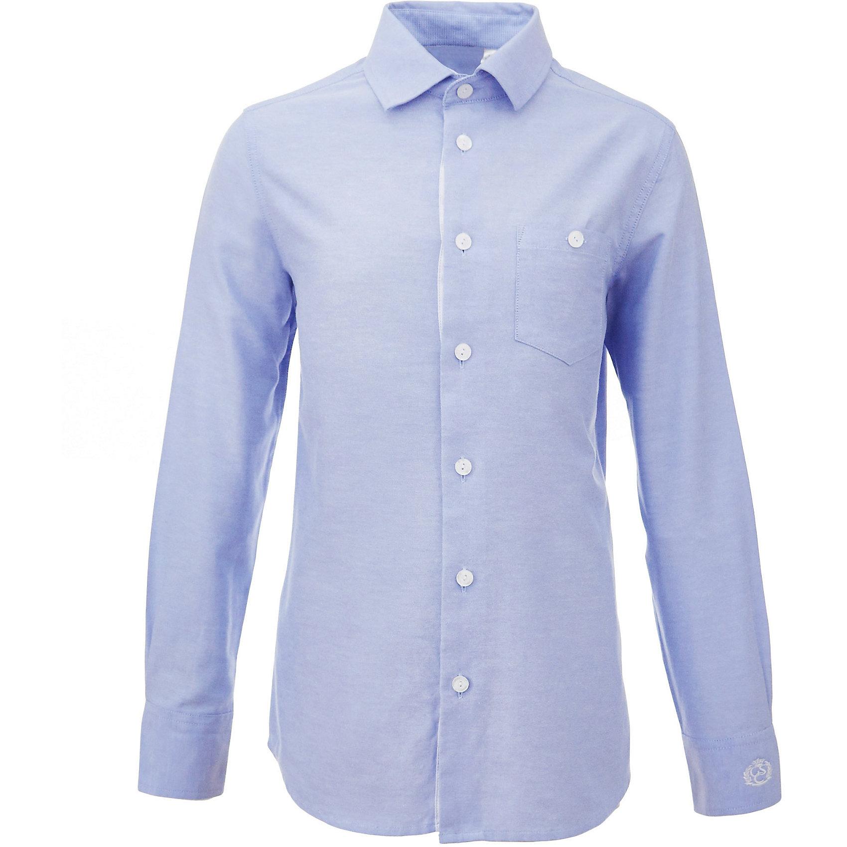 Рубашка для мальчика GulliverБлузки и рубашки<br>Характеристики товара:<br><br>• цвет: голубой<br>• состав: 80% хлопок, 20% полиэстер <br>• сезон: круглый год<br>• с длинным рукавом<br>• воротник-стойка<br>• застежки: пуговицы<br>• накладной карман на пуговице<br>• манжеты на трех пуговицах<br>• особенности: школьная, повседневная<br>• страна бренда: Российская Федерация<br>• страна производства: Российская Федерация<br><br>Школьная рубашка с длинным рукавом для мальчика. Голубая рубашка застегивается на пуговицы, манжеты рукавов на трех пуговицах. На груди накладной карман на пуговице.<br><br>Рубашку для мальчика Gulliver (Гулливер) можно купить в нашем интернет-магазине.<br><br>Ширина мм: 174<br>Глубина мм: 10<br>Высота мм: 169<br>Вес г: 157<br>Цвет: голубой<br>Возраст от месяцев: 72<br>Возраст до месяцев: 84<br>Пол: Мужской<br>Возраст: Детский<br>Размер: 122,170,128,134,140,146,152,158,164<br>SKU: 6678356