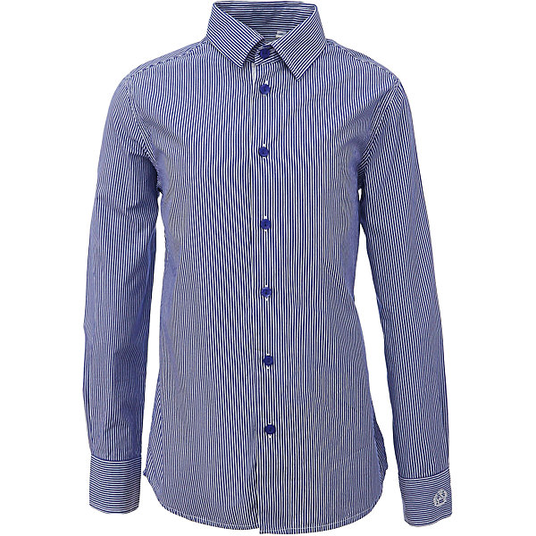 Рубашка для мальчика GulliverБлузки и рубашки<br>Характеристики товара:<br><br>• цвет: синий<br>• состав: 80% хлопок, 20% полиэстер <br>• сезон: круглый год<br>• с длинным рукавом<br>• воротник-стойка<br>• застежки: пуговицы<br>• манжеты на трех пуговицах<br>• особенности: школьная, повседевная, в полоску<br>• страна бренда: Российская Федерация<br>• страна производства: Российская Федерация<br><br>Школьная рубашка с длинным рукавом для мальчика. Синяя рубашка в полоску застегивается на пуговицы, манжеты рукавов на трех пуговицах.<br><br>Рубашку для мальчика Gulliver (Гулливер) можно купить в нашем интернет-магазине.<br>Ширина мм: 174; Глубина мм: 10; Высота мм: 169; Вес г: 157; Цвет: синий; Возраст от месяцев: 72; Возраст до месяцев: 84; Пол: Мужской; Возраст: Детский; Размер: 122,170,164,158,152,146,140,134,128; SKU: 6678376;