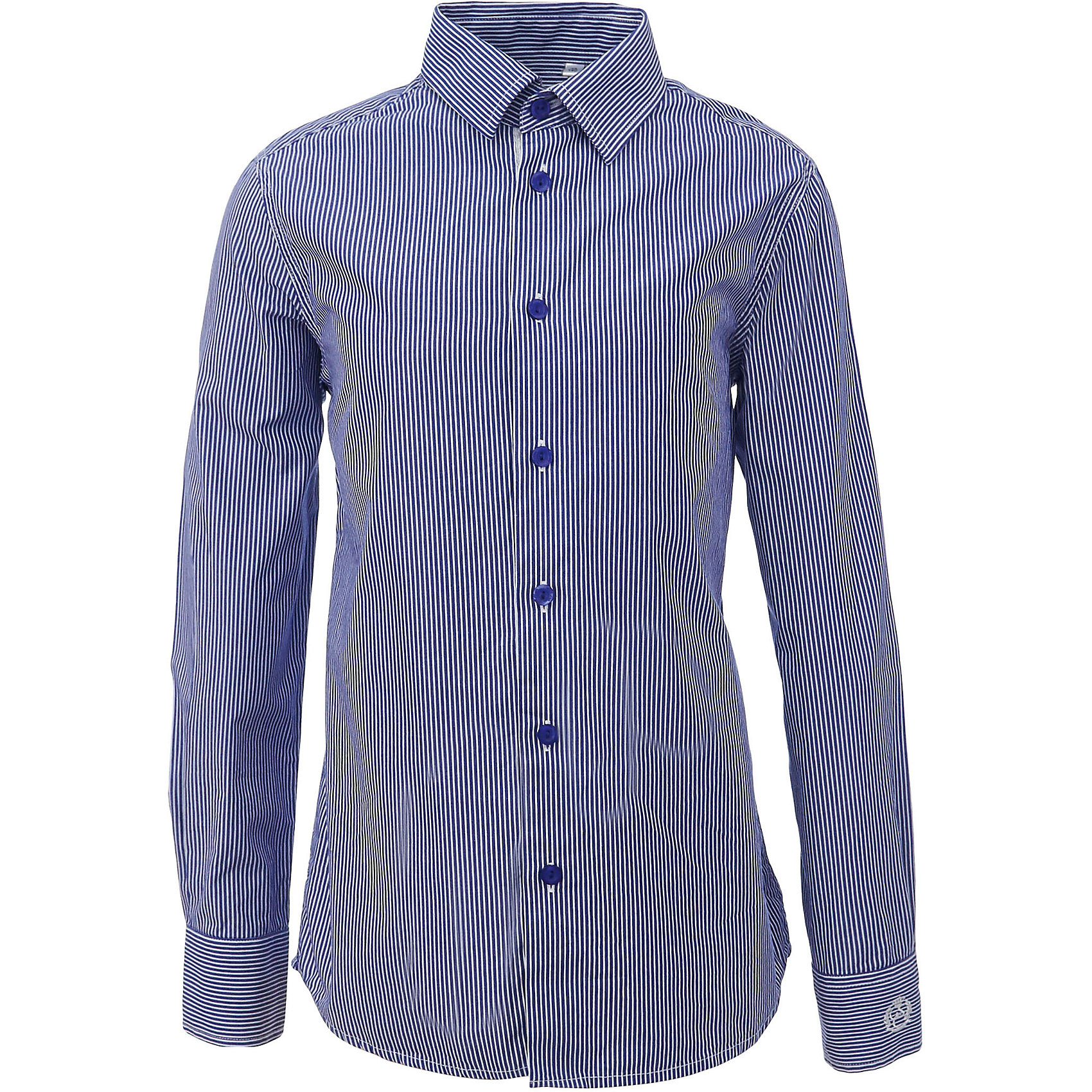 Рубашка для мальчика GulliverБлузки и рубашки<br>Характеристики товара:<br><br>• цвет: синий<br>• состав: 80% хлопок, 20% полиэстер <br>• сезон: круглый год<br>• с длинным рукавом<br>• воротник-стойка<br>• застежки: пуговицы<br>• манжеты на трех пуговицах<br>• особенности: школьная, повседевная, в полоску<br>• страна бренда: Российская Федерация<br>• страна производства: Российская Федерация<br><br>Школьная рубашка с длинным рукавом для мальчика. Синяя рубашка в полоску застегивается на пуговицы, манжеты рукавов на трех пуговицах.<br><br>Рубашку для мальчика Gulliver (Гулливер) можно купить в нашем интернет-магазине.<br><br>Ширина мм: 174<br>Глубина мм: 10<br>Высота мм: 169<br>Вес г: 157<br>Цвет: синий<br>Возраст от месяцев: 72<br>Возраст до месяцев: 84<br>Пол: Мужской<br>Возраст: Детский<br>Размер: 122,170,128,134,140,146,152,158,164<br>SKU: 6678376