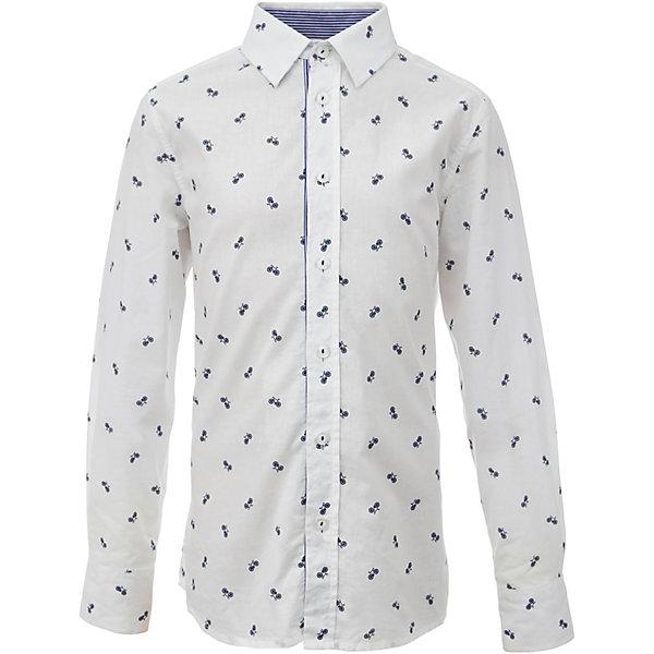 Рубашка для мальчика GulliverБлузки и рубашки<br>Характеристики товара:<br><br>• цвет: белый<br>• состав: 80% хлопок, 20% полиэстер <br>• сезон: круглый год<br>• с длинным рукавом<br>• воротник-стойка<br>• застежки: пуговицы<br>• манжеты на трех пуговицах<br>• особенности: школьная, повседневная, с рисунком<br>• страна бренда: Российская Федерация<br>• страна производства: Российская Федерация<br><br>Школьная рубашка с длинным рукавом для мальчика. Белая рубашка с мелким рисунком застегивается на пуговицы, манжеты рукавов на трех пуговицах. Внутренняя часть планки и воротник контрастного синего цвета.<br><br>Рубашку для мальчика Gulliver (Гулливер) можно купить в нашем интернет-магазине.<br>Ширина мм: 174; Глубина мм: 10; Высота мм: 169; Вес г: 157; Цвет: белый; Возраст от месяцев: 72; Возраст до месяцев: 84; Пол: Мужской; Возраст: Детский; Размер: 122,170,164,158,152,146,140,134,128; SKU: 6678406;