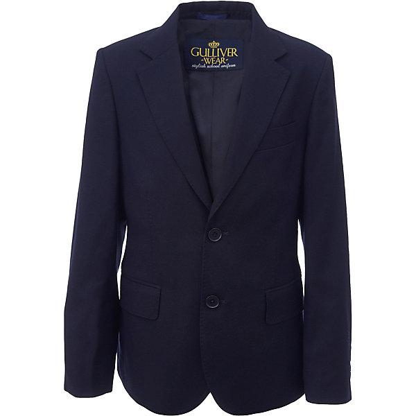 Пиджак для мальчика GulliverПиджаки и костюмы<br>Характеристики товара:<br><br>• цвет: синий<br>• состав: 10% шерсть, 25% вискоза, 65% полиэстер<br>• подкладка: 50% вискоза, 50% полиэстер <br>• сезон: демисезон<br>• застежки: пуговицы<br>• особенности: школьный, на подкладке<br>• страна бренда: Российская Федерация<br>• страна производства: Российская Федерация<br><br>Школьный пиджак для мальчика. Синий пиджак на подкладке застегивается на пуговицы.<br><br>Пиджак для мальчика Gulliver (Гулливер) можно купить в нашем интернет-магазине.<br>Ширина мм: 190; Глубина мм: 74; Высота мм: 229; Вес г: 236; Цвет: синий; Возраст от месяцев: 120; Возраст до месяцев: 132; Пол: Мужской; Возраст: Детский; Размер: 122,170,164,158,152,146,140,134,128; SKU: 6678516;