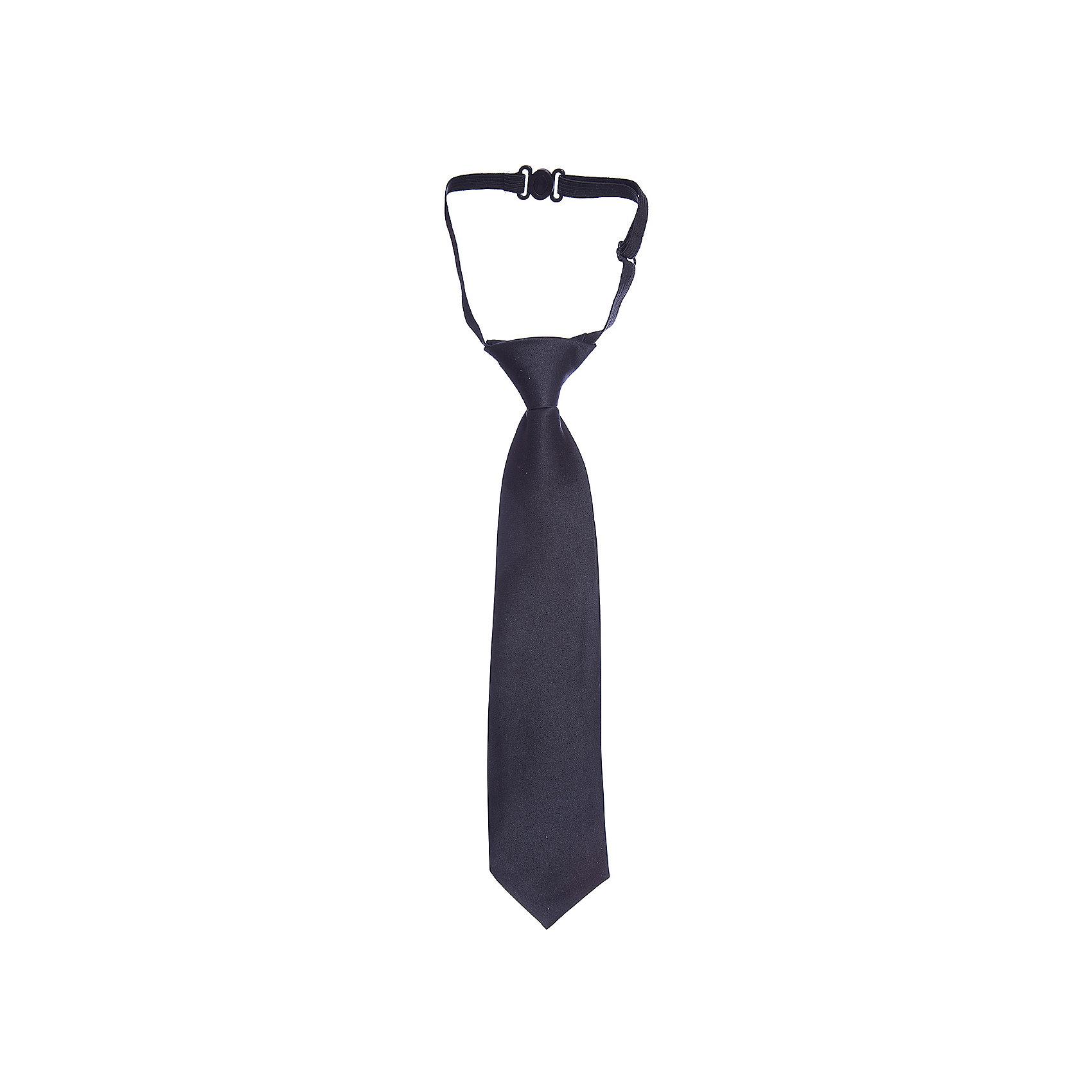 Галстук для мальчика GulliverАксессуары<br>Красивый галстук для школьной формы - достойное завершение делового ансамбля. Для удобства и экономии драгоценного утреннего времени, модель имеет резинку, позволяющую легко и быстро зафиксировать галстук на воротнике рубашки. Купить галстук на резинке, значит, приобрести стильный и удобный аксессуар для создания образа серьезного, уверенного в себе юноши.<br>Состав:<br>100% полиэстер<br><br>Ширина мм: 170<br>Глубина мм: 157<br>Высота мм: 67<br>Вес г: 117<br>Цвет: черный<br>Возраст от месяцев: 120<br>Возраст до месяцев: 132<br>Пол: Мужской<br>Возраст: Детский<br>Размер: 146,122<br>SKU: 6678577