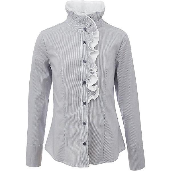 Блузка для девочки GulliverБлузки и рубашки<br>Характеристики товара:<br><br>• цвет: серый<br>• состав: 75% хлопок, 23% полиэстер, 2% эластан <br>• сезон: демисезон<br>• декорирована рюшей<br>• с длинным рукавом<br>• застежка: пуговицы<br>• манжеты на пуговицах<br>• особенности: школьная, в полоску<br>• страна бренда: Российская Федерация<br>• страна производства: Российская Федерация<br><br>Школьная блузка с длинным рукавом для девочки. Серая блузка в полоску застегивается на пуговицы, манжеты рукавов на пуговицах. Блузка с рюшами контрастного белого цвета.<br><br>Блузку для девочки Gulliver (Гулливер) можно купить в нашем интернет-магазине.<br><br>Ширина мм: 186<br>Глубина мм: 87<br>Высота мм: 198<br>Вес г: 197<br>Цвет: серый<br>Возраст от месяцев: 72<br>Возраст до месяцев: 84<br>Пол: Женский<br>Возраст: Детский<br>Размер: 122,170,164,158,152,146,140,134,128<br>SKU: 6678718