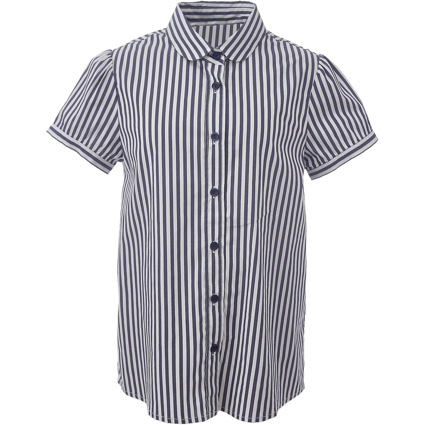 Блузка для девочки GulliverБлузки и рубашки<br>Если вы хотите купить школьную блузку для девочки, не ограничивайте свой выбор исключительно белыми блузками. Красивые блузки для школы могут быть разными! Блузка в полоску с коротким рукавом - отличный вариант на каждый день! Строгая, элегантная, комфортная, практичная, полосатая блузка сделает образ свежим и интересным.<br>Состав:<br>75% хлопок 23% полиэстер 2% эластан<br><br>Ширина мм: 186<br>Глубина мм: 87<br>Высота мм: 198<br>Вес г: 197<br>Цвет: белый<br>Возраст от месяцев: 72<br>Возраст до месяцев: 84<br>Пол: Женский<br>Возраст: Детский<br>Размер: 122,152,170,164,158,146,140,134,128<br>SKU: 6678758