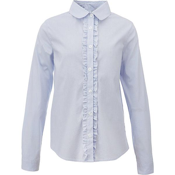 Блузка для девочки GulliverБлузки и рубашки<br>Характеристики товара:<br><br>• цвет: голубой<br>• состав: 75% хлопок, 23% полиэстер, 2% эластан <br>• сезон: демисезон<br>• с длинным рукавом<br>• застежка: пуговицы<br>• манжеты на пуговице<br>• планка декорирована рюшами<br>• особенности: школьная, однотонная<br>• страна бренда: Российская Федерация<br>• страна производства: Российская Федерация<br><br>Школьная блузка с длинным рукавом для девочки. Голубая блузка с рюшами застегивается на пуговицы. Манжеты рукавов на одной пуговице.<br><br>Блузку для девочки Gulliver (Гулливер) можно купить в нашем интернет-магазине.<br><br>Ширина мм: 186<br>Глубина мм: 87<br>Высота мм: 198<br>Вес г: 197<br>Цвет: голубой<br>Возраст от месяцев: 84<br>Возраст до месяцев: 96<br>Пол: Женский<br>Возраст: Детский<br>Размер: 128,122,170,164,158,152,146,140,134<br>SKU: 6678778