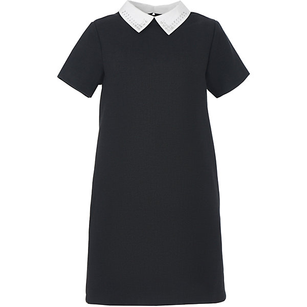Платье для девочки GulliverПлатья и сарафаны<br>Характеристики товара:<br><br>• цвет: серое<br>• состав: 58% полиэстер, 31% вискоза, 10% шерсть, 1% эластан<br>• подкладка: 52% полиэстер, 48% вискоза <br>• застежка: молния<br>• с коротким рукавом<br>• отстегивающийся воротник со стразами<br>• карманы в боковых швах<br>• трапециевидный силуэт<br>• особенности: школьное, строгое<br>• страна бренда: Российская Федерация<br>• страна производства: Российская Федерация<br><br>Школьное платье с коротким рукавом для девочки. Строго серое платье застгивается на молнию на спине. Два кармана в боковых швах. Платье декорировано съемным белым воротничком со стразами. <br><br>Платье для девочки Gulliver (Гулливер) можно купить в нашем интернет-магазине.<br><br>Ширина мм: 236<br>Глубина мм: 16<br>Высота мм: 184<br>Вес г: 177<br>Цвет: серый<br>Возраст от месяцев: 72<br>Возраст до месяцев: 84<br>Пол: Женский<br>Возраст: Детский<br>Размер: 122,170,164,158,152,146,140,134,128<br>SKU: 6678836