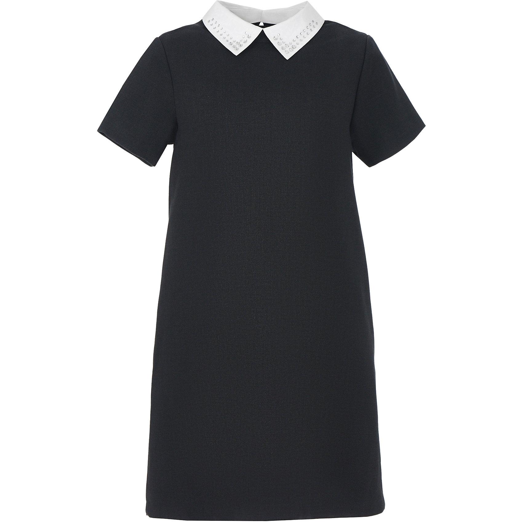 Платье для девочки GulliverПлатья и сарафаны<br>Характеристики товара:<br><br>• цвет: серое<br>• состав: 58% полиэстер, 31% вискоза, 10% шерсть, 1% эластан<br>• подкладка: 52% полиэстер, 48% вискоза <br>• застежка: молния<br>• с коротким рукавом<br>• отстегивающийся воротник со стразами<br>• карманы в боковых швах<br>• трапециевидный силуэт<br>• особенности: школьное, строгое<br>• страна бренда: Российская Федерация<br>• страна производства: Российская Федерация<br><br>Школьное платье с коротким рукавом для девочки. Строго серое платье застгивается на молнию на спине. Два кармана в боковых швах. Платье декорировано съемным белым воротничком со стразами. <br><br>Платье для девочки Gulliver (Гулливер) можно купить в нашем интернет-магазине.<br><br>Ширина мм: 236<br>Глубина мм: 16<br>Высота мм: 184<br>Вес г: 177<br>Цвет: серый<br>Возраст от месяцев: 168<br>Возраст до месяцев: 180<br>Пол: Женский<br>Возраст: Детский<br>Размер: 170,122,146,128,134,140,152,158,164<br>SKU: 6678836