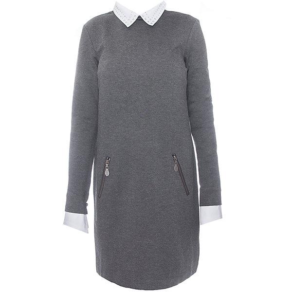 Купить Платье для девочки Gulliver, Китай, серый, 170, 122, 164, 158, 152, 146, 140, 134, 128, Женский