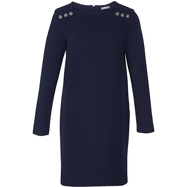 Платье для девочки GulliverПлатья и сарафаны<br>Характеристики товара:<br><br>• цвет: синий<br>• состав: 65% вискоза, 30% нейлон, 5% эластан <br>• с длинным рукавом<br>• застежка: молния на спине<br>• декорировано пуговицами<br>• особенности: школьное, прямое, строгое<br>• страна бренда: Российская Федерация<br>• страна производства: Российская Федерация<br><br>Школьное платье для девочки. Синее платье прямого кроя застегивается на молнию на спине. Платье декорировано пуговицами.<br><br>Платье для девочки Gulliver (Гулливер) можно купить в нашем интернет-магазине.<br><br>Ширина мм: 236<br>Глубина мм: 16<br>Высота мм: 184<br>Вес г: 177<br>Цвет: синий<br>Возраст от месяцев: 72<br>Возраст до месяцев: 84<br>Пол: Женский<br>Возраст: Детский<br>Размер: 170,164,158,122,152,146,140,134,128<br>SKU: 6678915