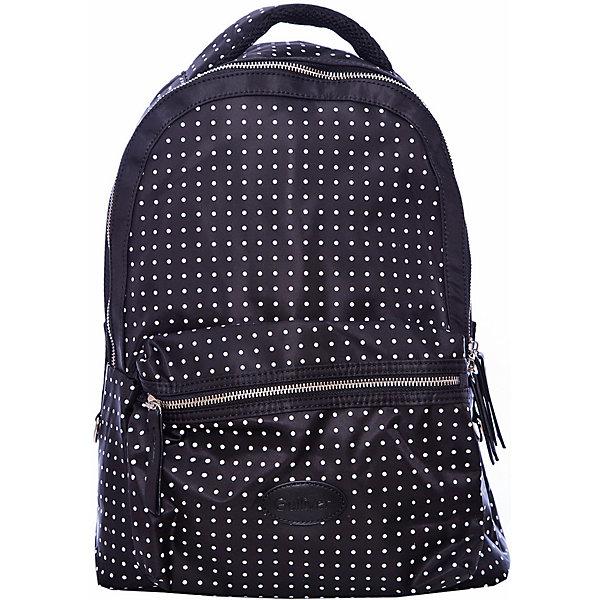 Рюкзак GulliverРюкзаки<br>Характеристики товара:<br><br>• цвет: черный;<br>• материал: текстиль;<br>• застежка: молния;<br>• особенности: школьный, повседневный, в горох;<br>• эргономическая спинка;<br>• воздухопроницаемая ткань на спинке;<br>• внешний карман на молнии;<br>• страна бренда: Россия;<br>• страна производства: Китай.<br><br>Школьный рюкзак на молнии для девочки. Черный рюкзак в белый горошек с эргономической спинкой и внешним карманам на молнии. Молодежный рюкзак подходит как для школы, так и для повседневной носки.<br><br>Рюкзак Gulliver (Гулливер) можно купить в нашем интернет-магазине.<br><br>Ширина мм: 227<br>Глубина мм: 11<br>Высота мм: 226<br>Вес г: 350<br>Цвет: черный<br>Возраст от месяцев: 84<br>Возраст до месяцев: 192<br>Пол: Унисекс<br>Возраст: Детский<br>Размер: one size<br>SKU: 6679028